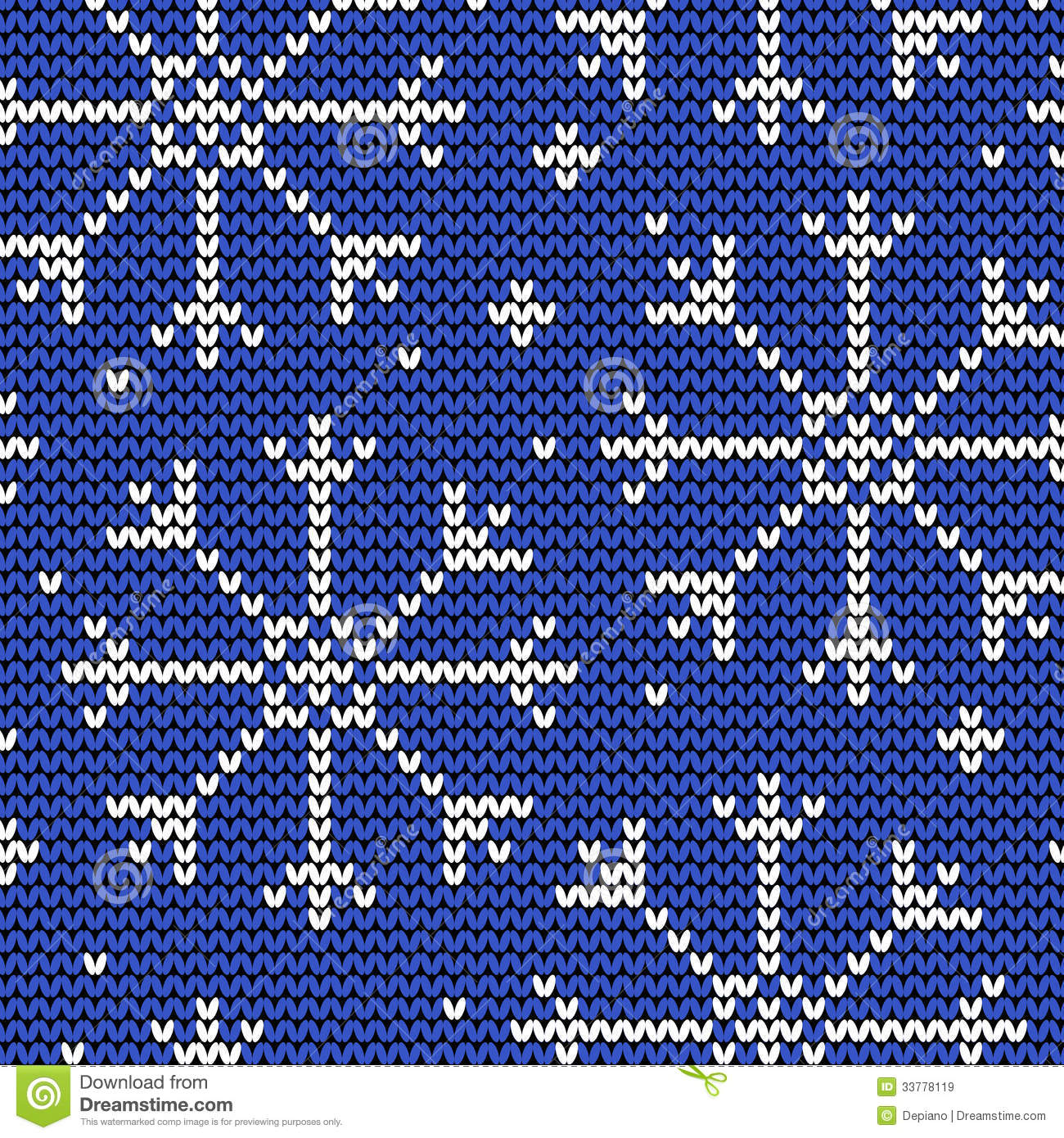 Snowflake Jumper Knitting Pattern : Knitted Seamless Winter Pattern With Snowflakes Royalty Free Stock Images - I...