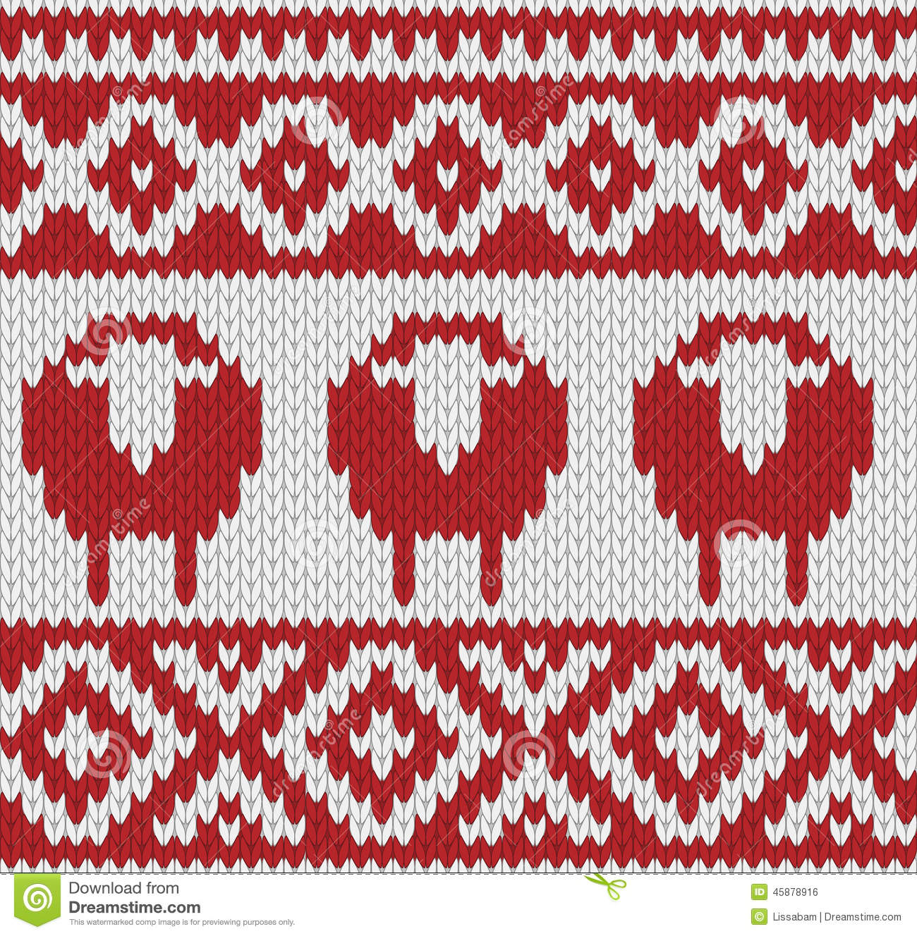 knitted seamless winter pattern stock vector