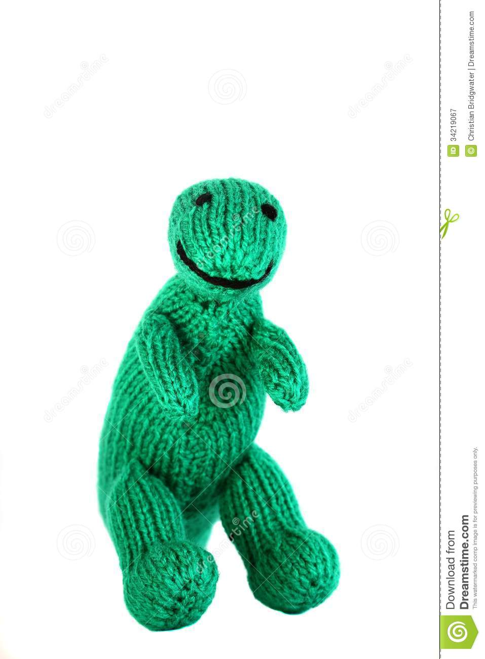 Knitted Toy Dinosaur C Royalty Free Stock Photography - Image: 34219067
