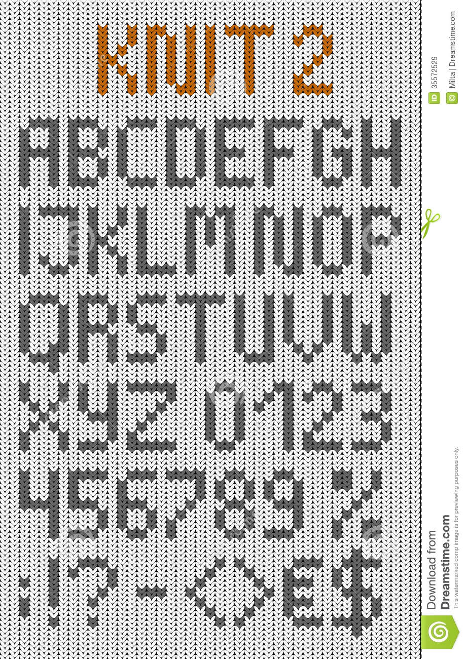 Knitted Uppercase English Alphabet Royalty Free Stock Images - Image: 35572529