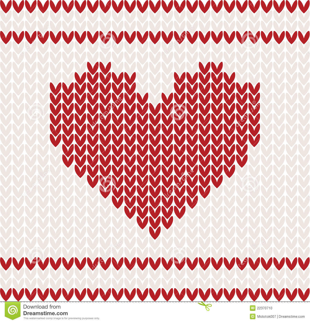 Knitting Pattern Vector Download : Knitted Vector With Heart Stock Photo - Image: 22370710