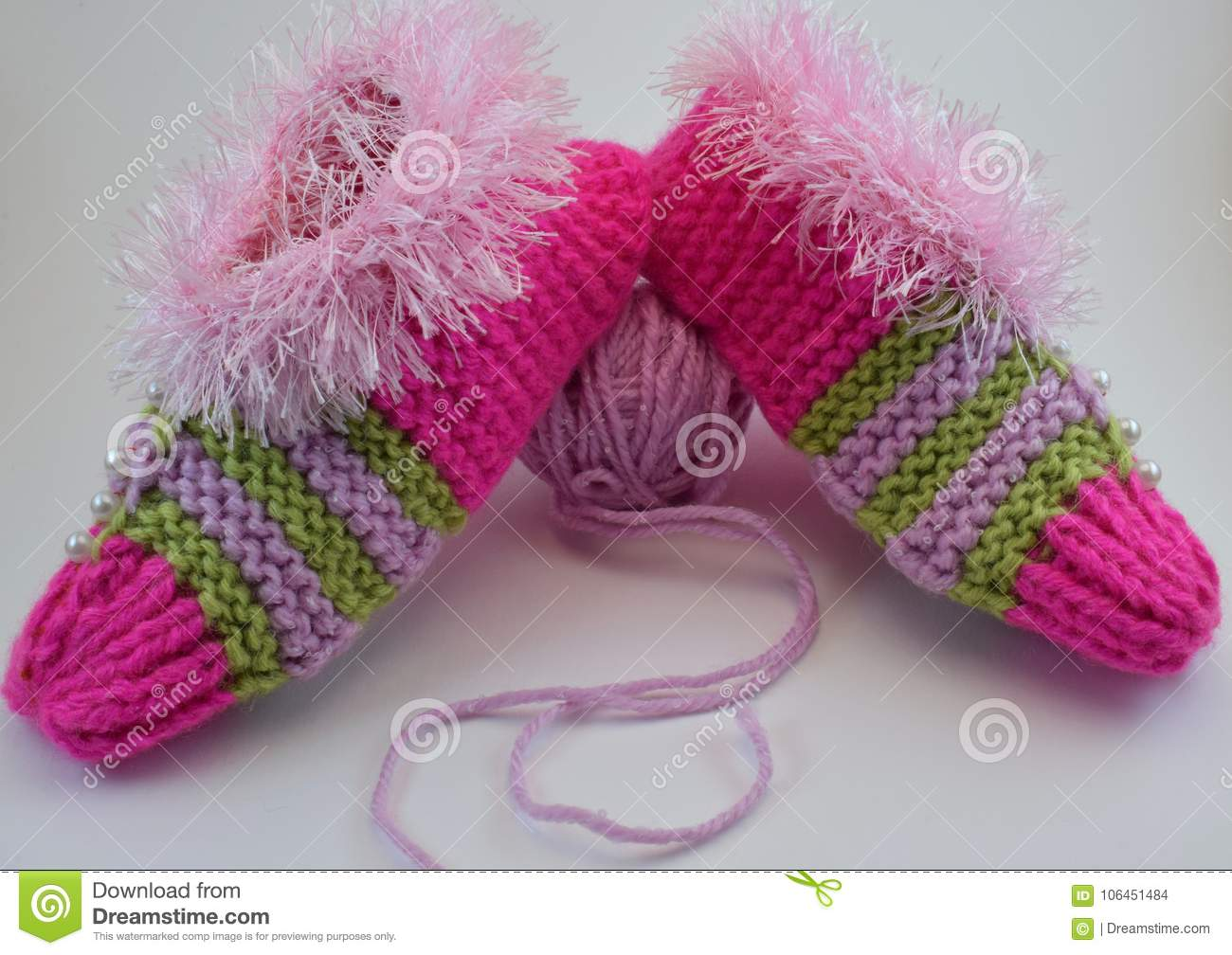 Knitted warm Slippers for Christmas