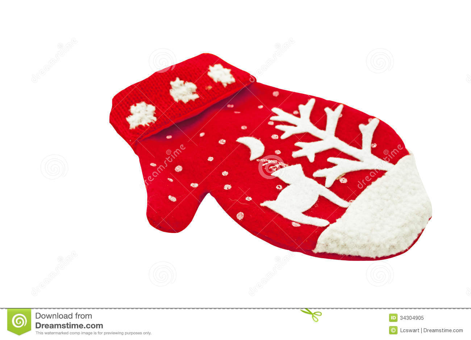 Mitten christmas decorations - Knitted Woolen Mitten With Christmas Decoration