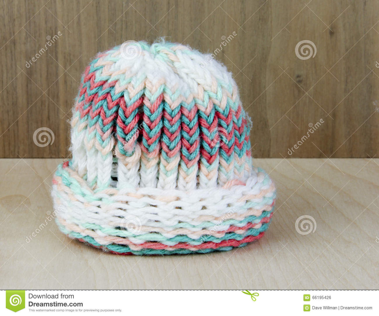 Knitted Yarn Babies Stocking Hat