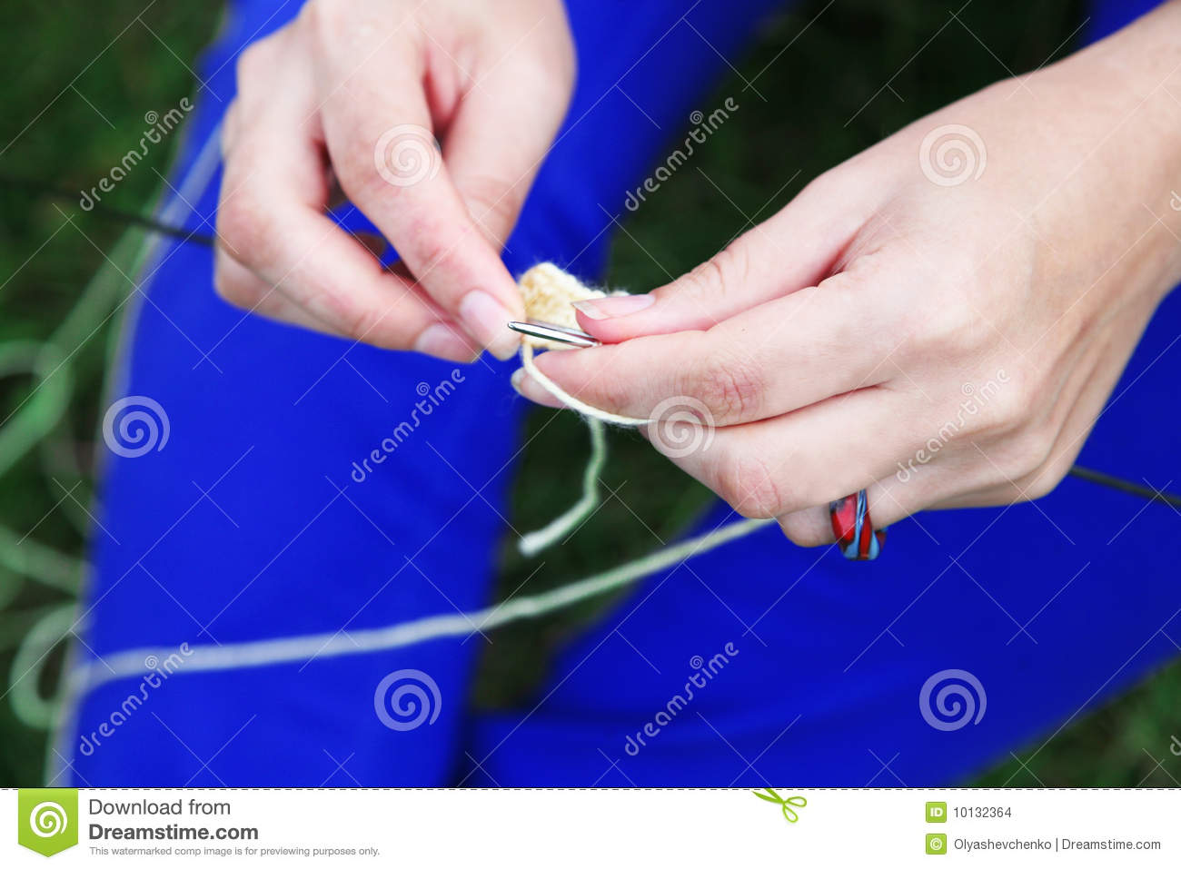 Knitting Hands Only : Knitting stock images image