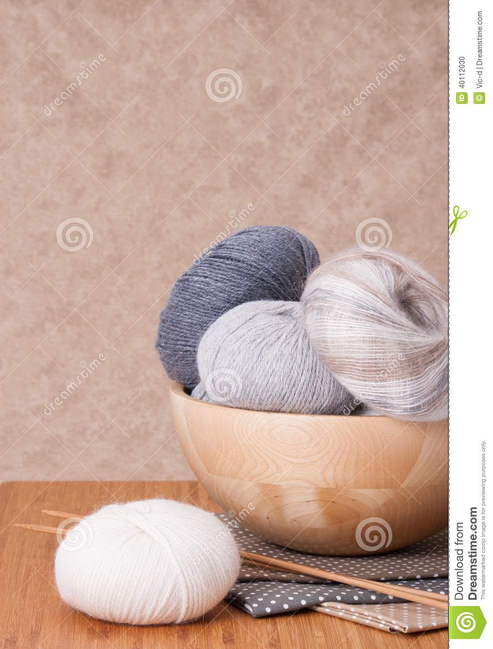 Accessories Unlimited Knitting Supplies : Knitting accessories yarn balls stock photo image
