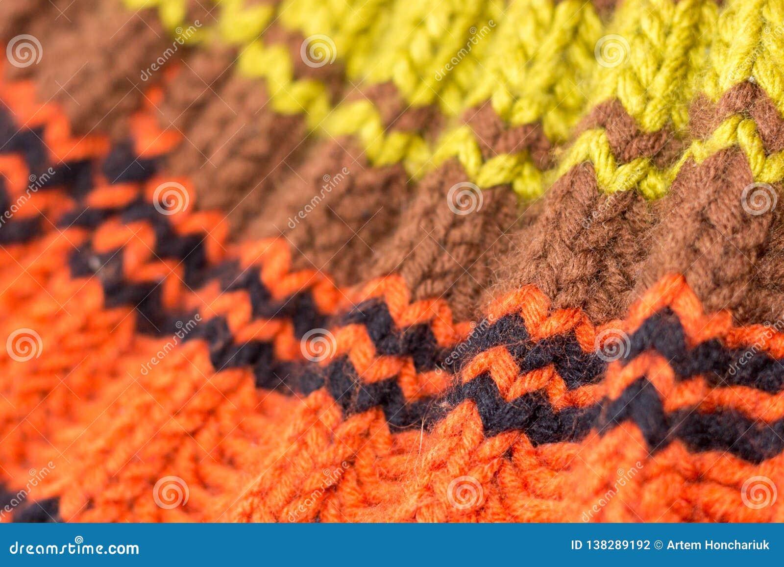 Knitting Achtergrond gebreide textuur Heldere breinaalden