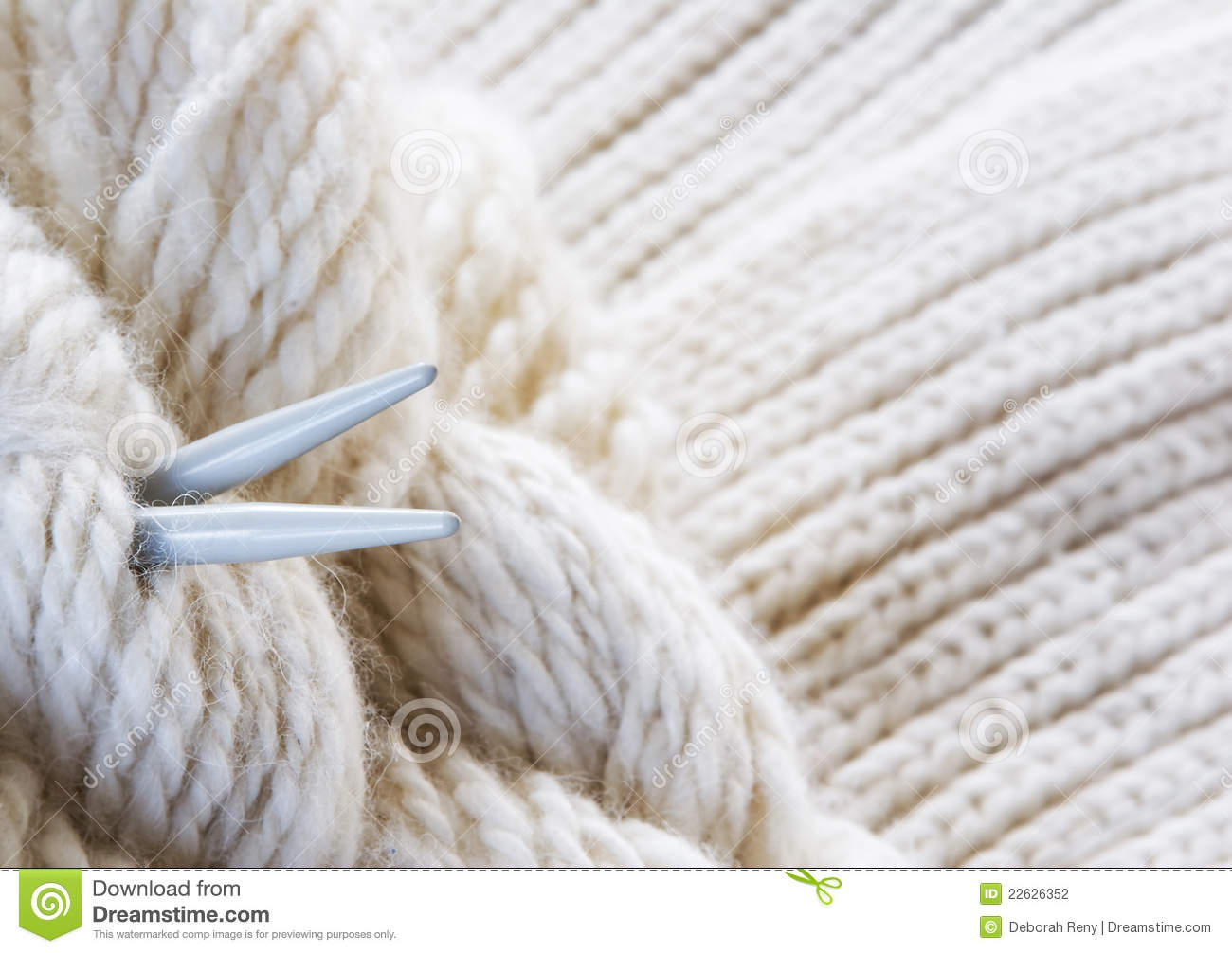 knitting background needles and yarn stock photography