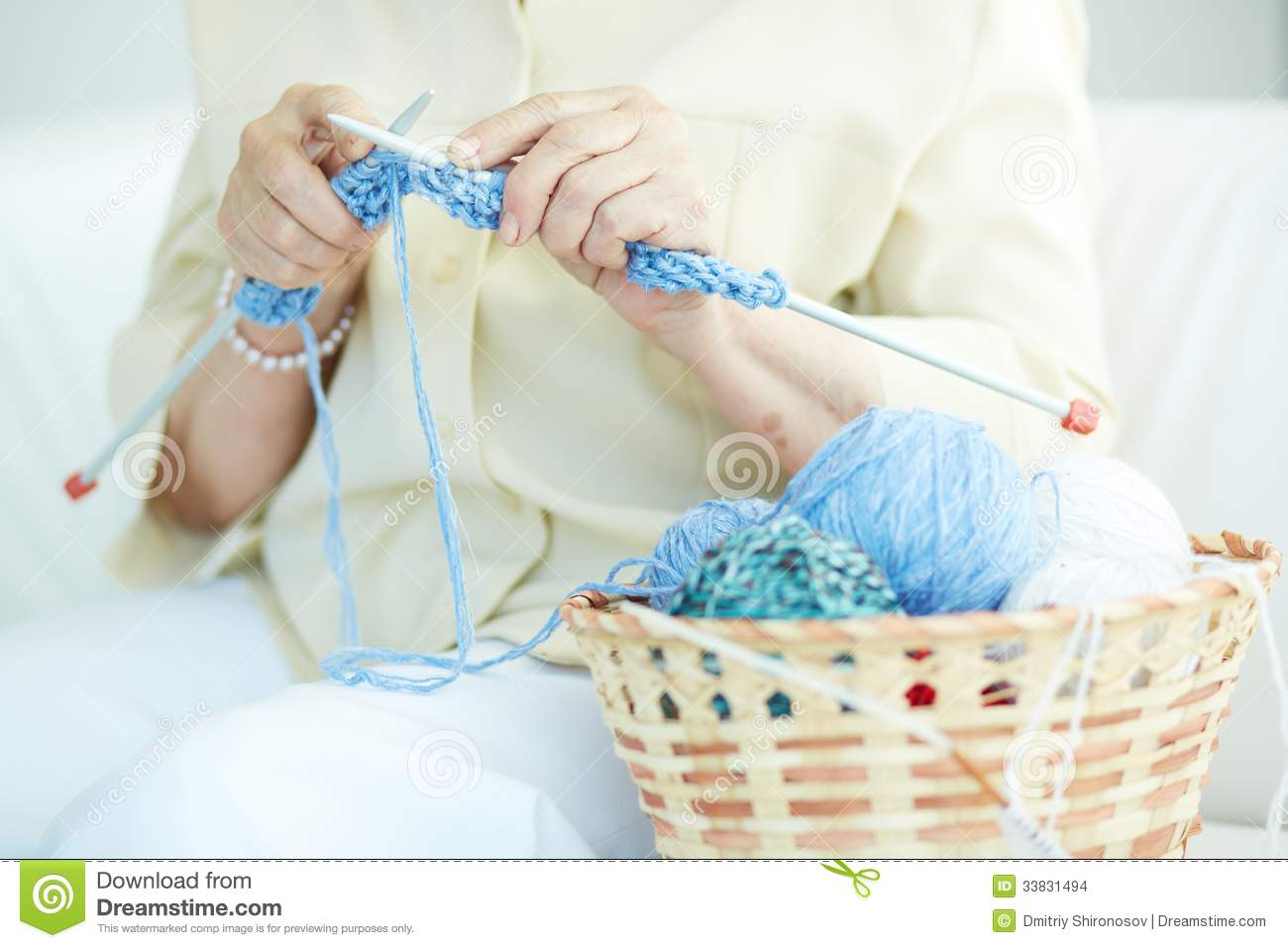 Knitting Hands Only : Knitting clothes stock images image