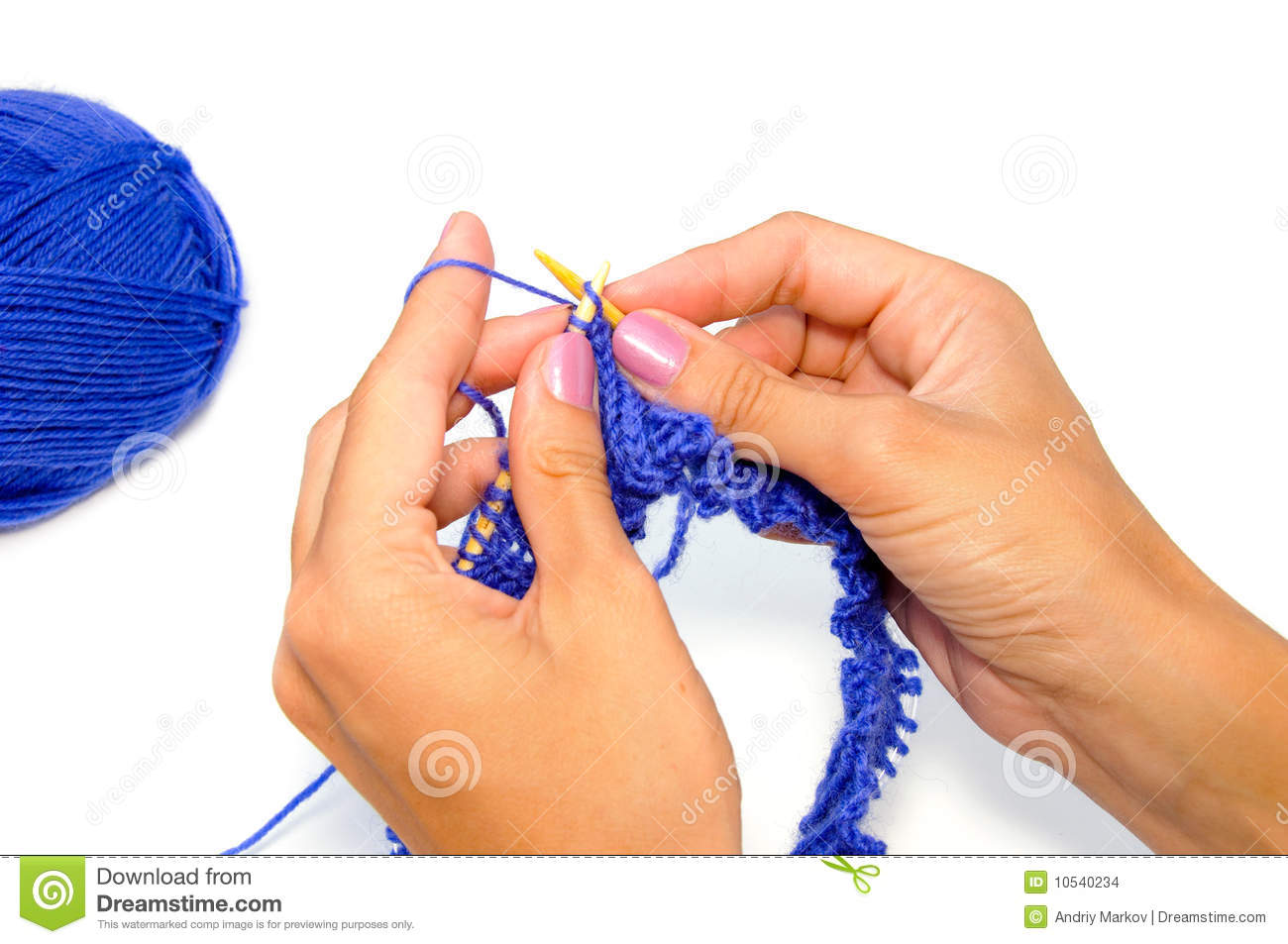 Knitting With Hands Only : Knitting hands stock images image