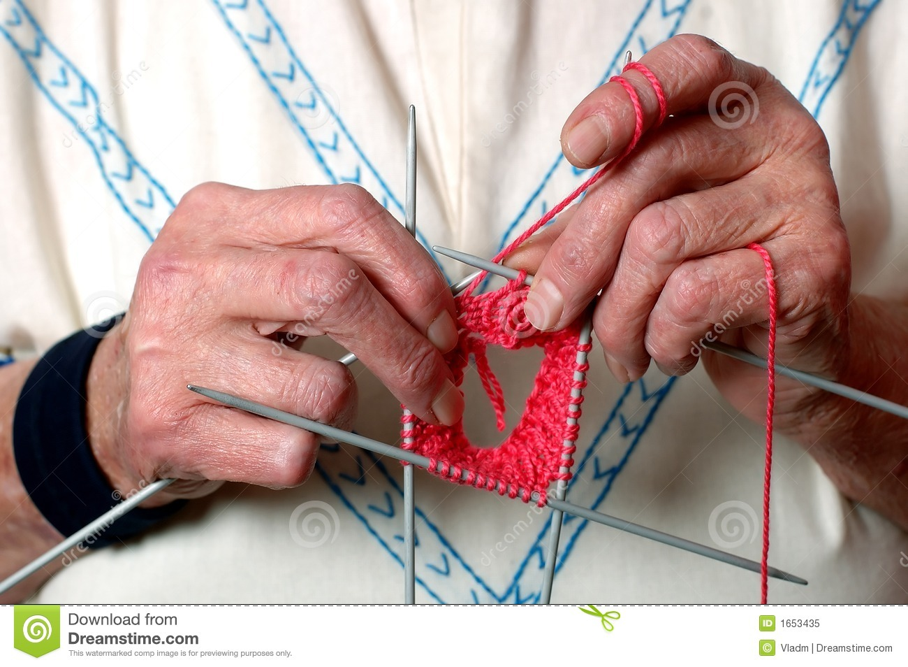 Knitting With Hands Only : Knitting hands royalty free stock photo image