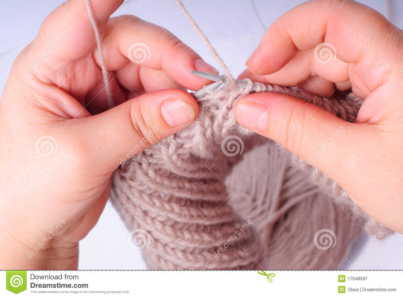 Knitting With Hands Only : Knitting hands royalty free stock photography image