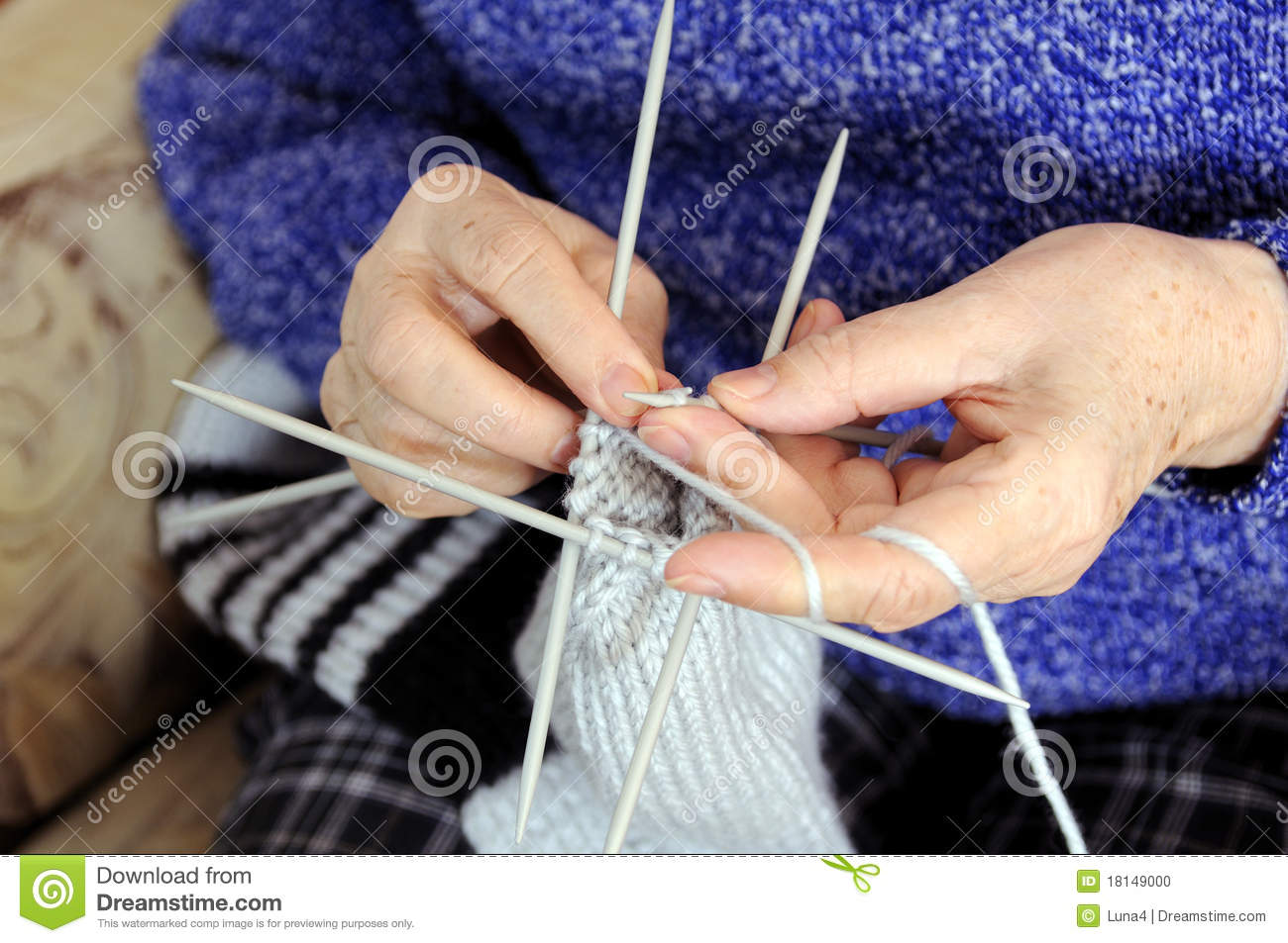 Knitting Hands Clipart : Knitting hands stock photo image
