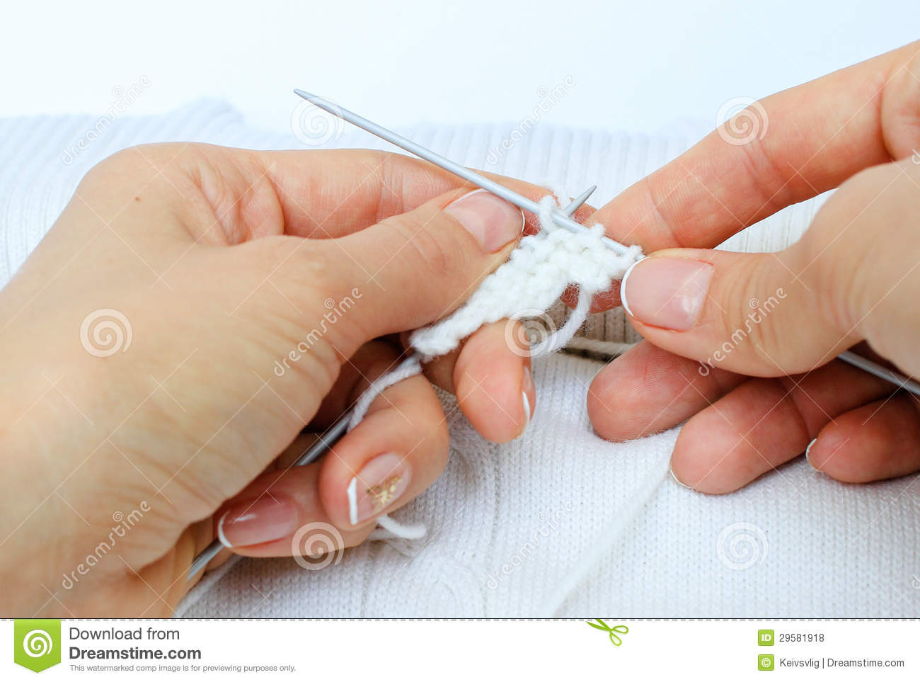 Knitting Hands Clipart : Hands knitting needles royalty free stock photos image