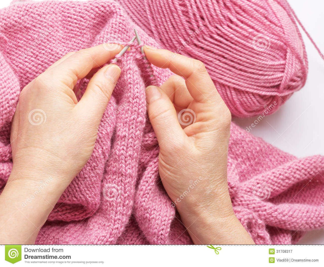 Knitting With Hands Only : Knitting royalty free stock photography image