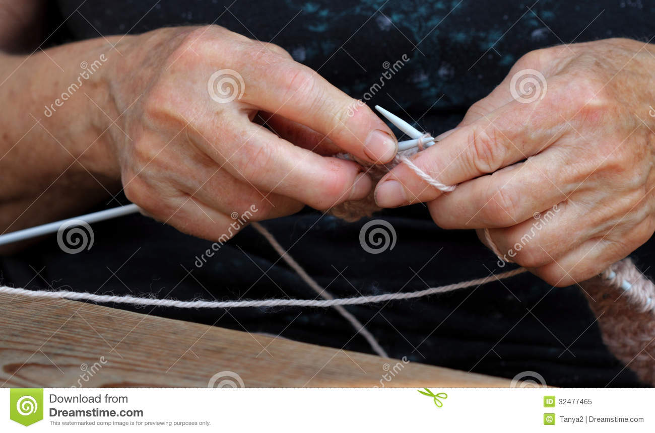 Knitting With Hands Only : Knitting royalty free stock photo image