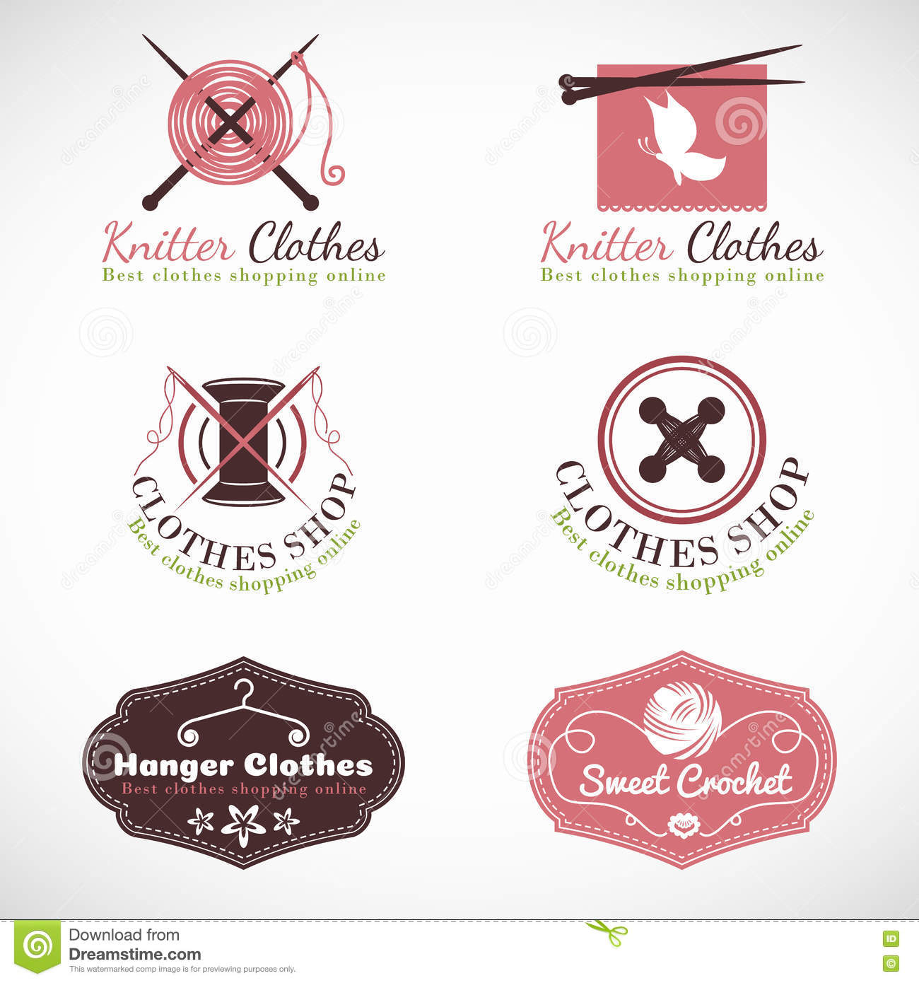 knitting hanger and crochet vintage clothes fashion shop