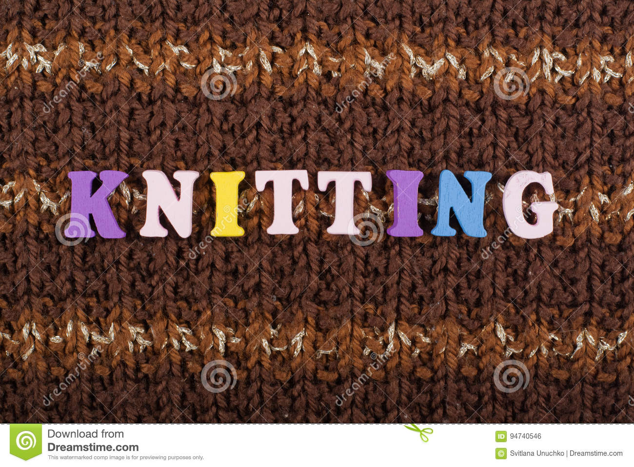knitting knitted fabric texture word composed from abc