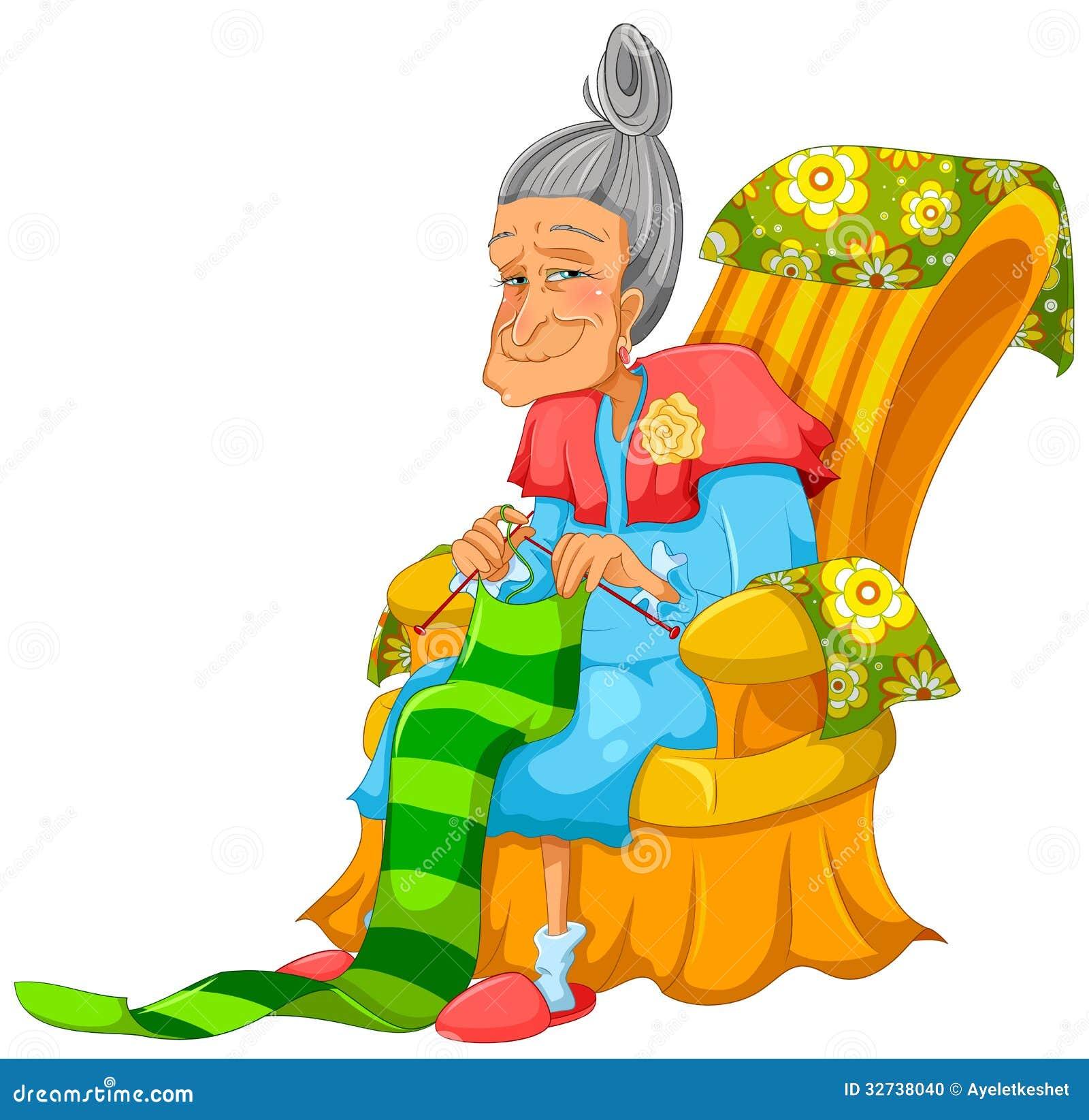 Old Knitting Lady : Knitting lady stock photo image