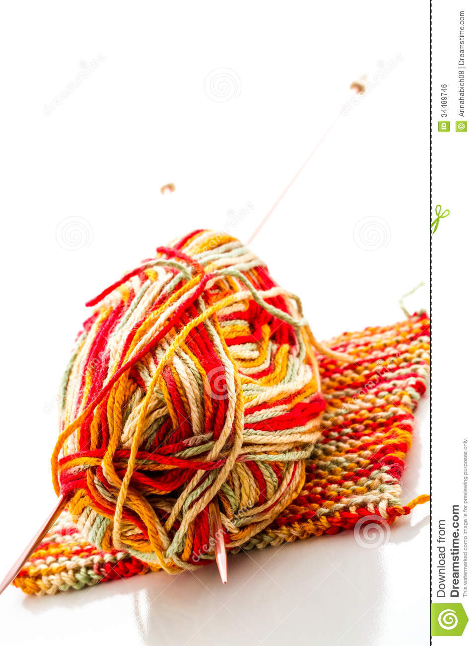 Best Knitting Stitches For Multicolor Yarn : Knitting Royalty Free Stock Image - Image: 34489746