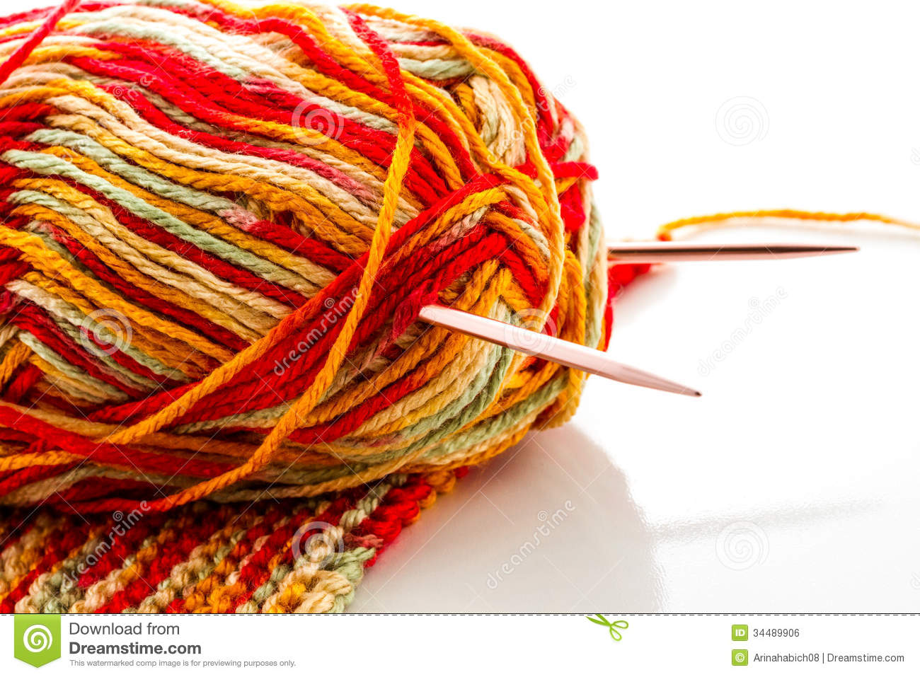 Best Knitting Stitches For Multicolor Yarn : Knitting Royalty Free Stock Image - Image: 34489906
