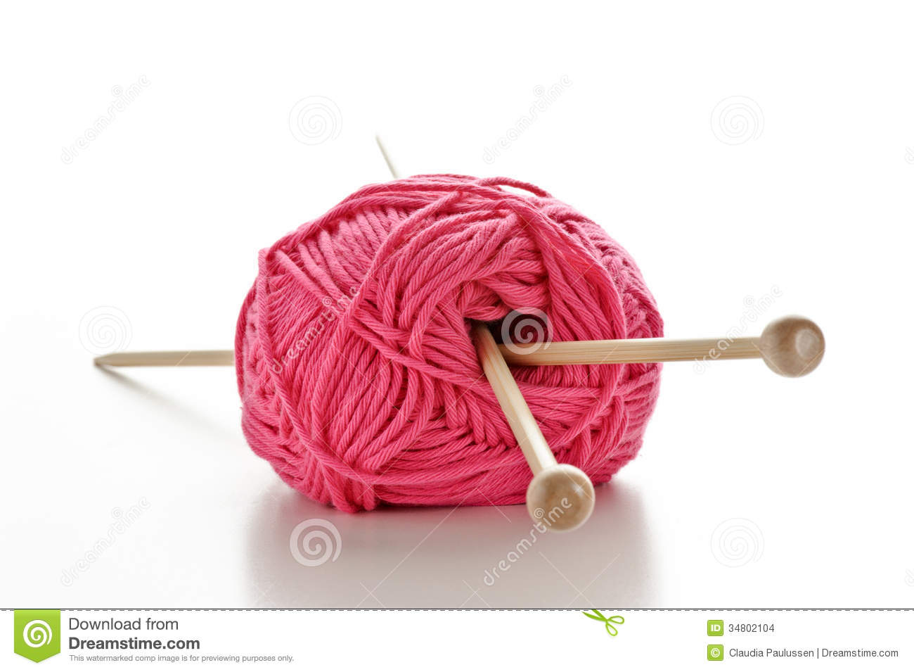 Knitting Patterns Wool And Needles : Knitting Needles In A Ball Of Wool Stock Images - Image ...