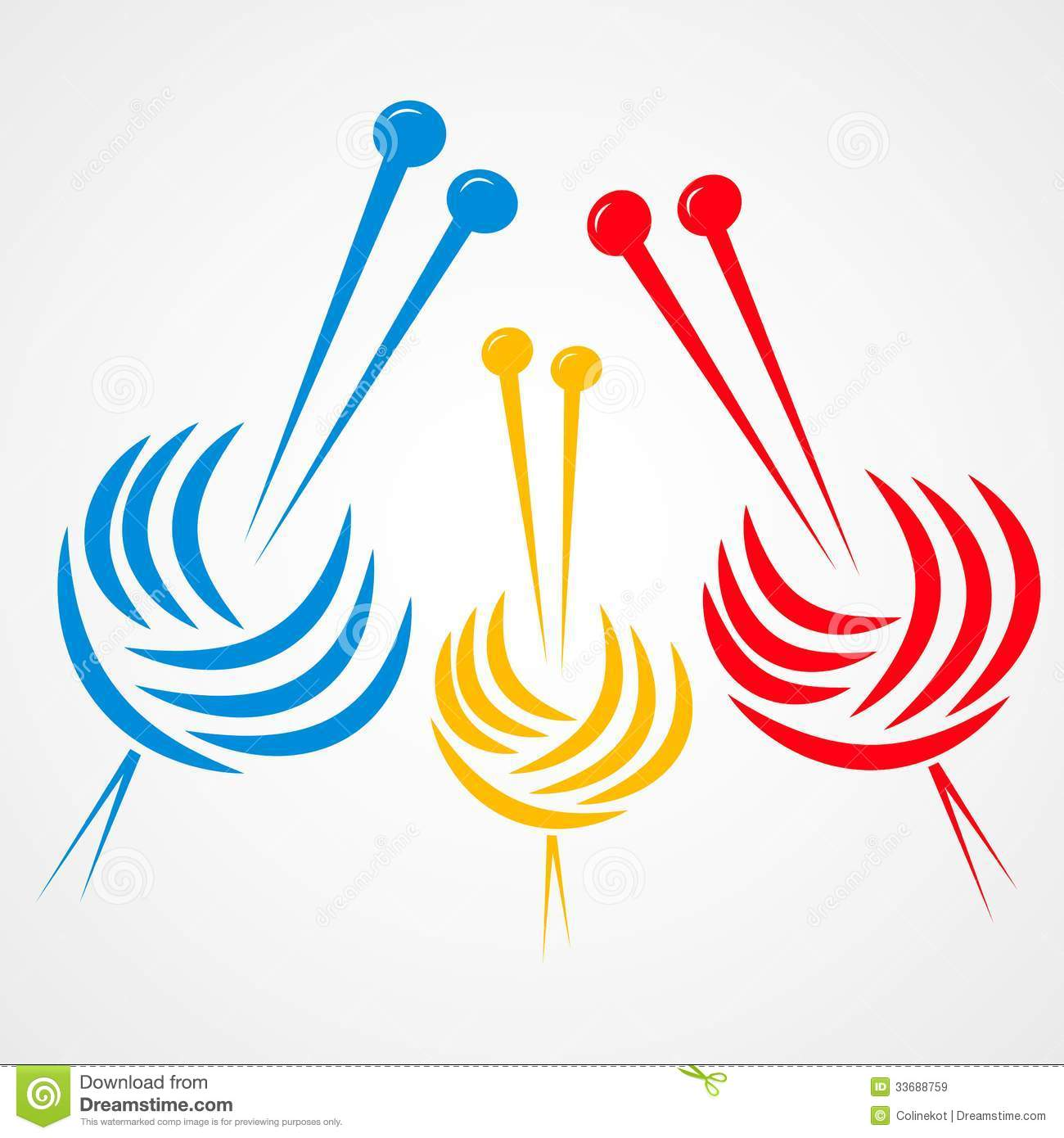 Knitting Clip Art Borders : Knitting needles royalty free stock images image
