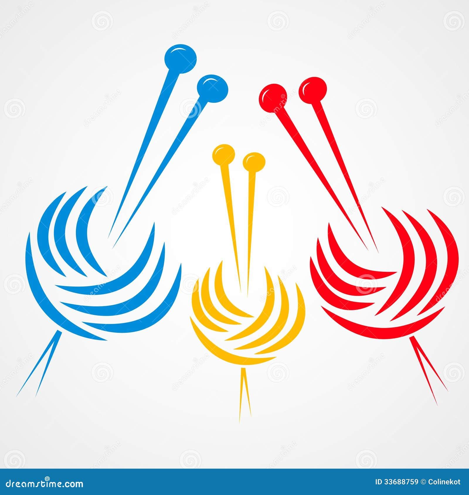 Clipart Knitting Needles : Knitting needles royalty free stock images image