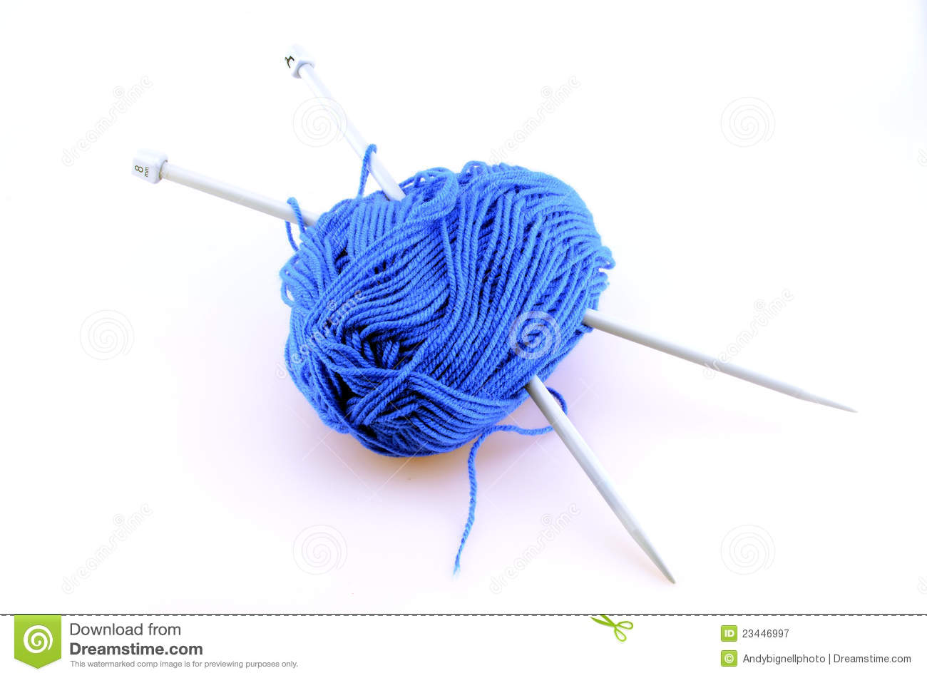Knitting Needles And Wool : Knitting needles and wool royalty free stock photography