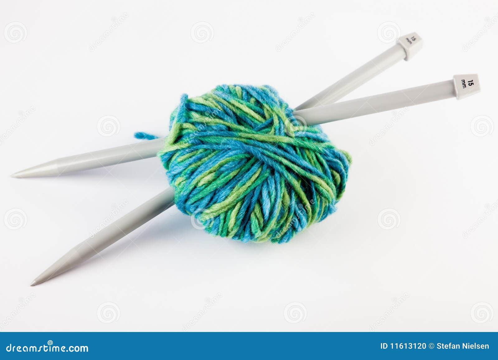 Knitting Needles And Yarn Stock Photo - Image: 11613120