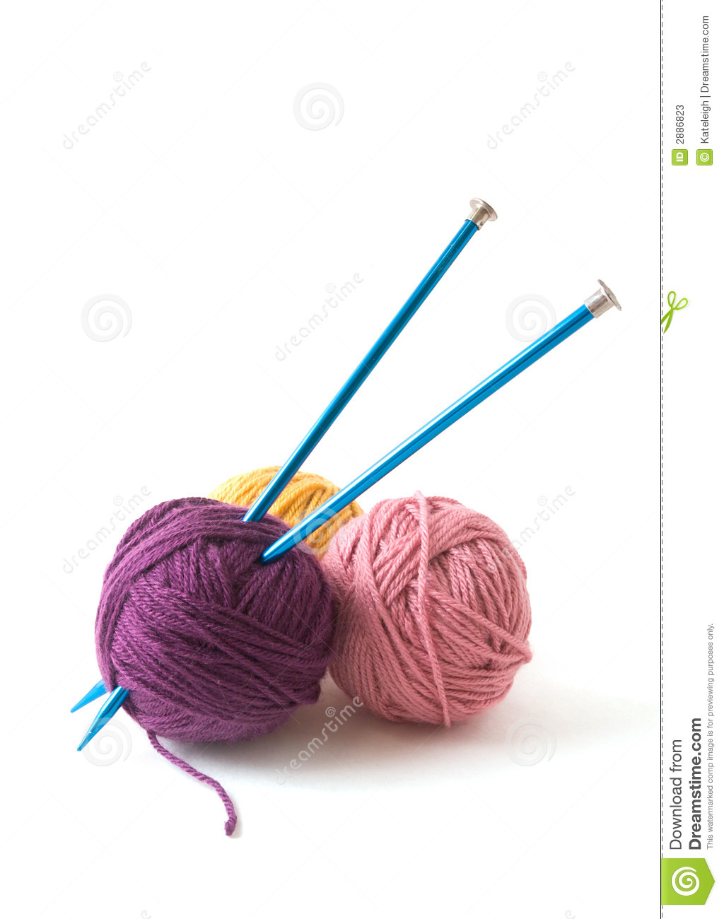 Knitting Wool And Needles : Knitting needles and yarn stock photos image