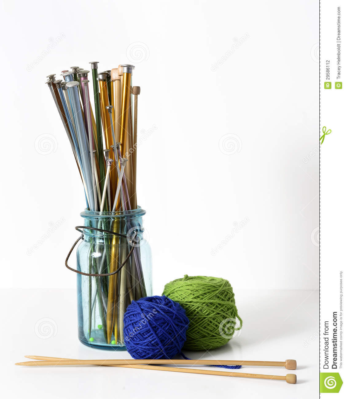 Knitting Needles And Yarn Stock Photography - Image: 29586112