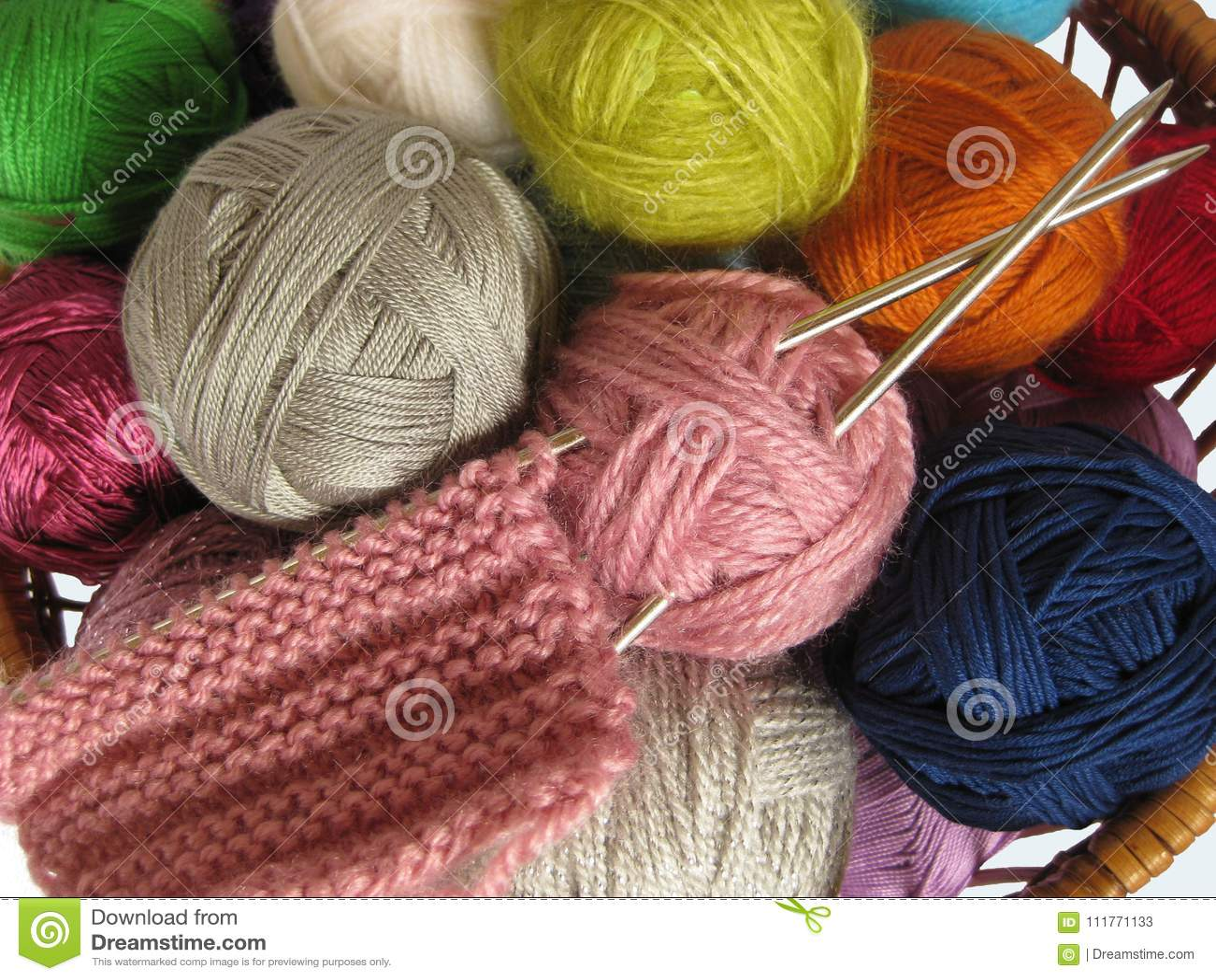 Basket for needlework 96