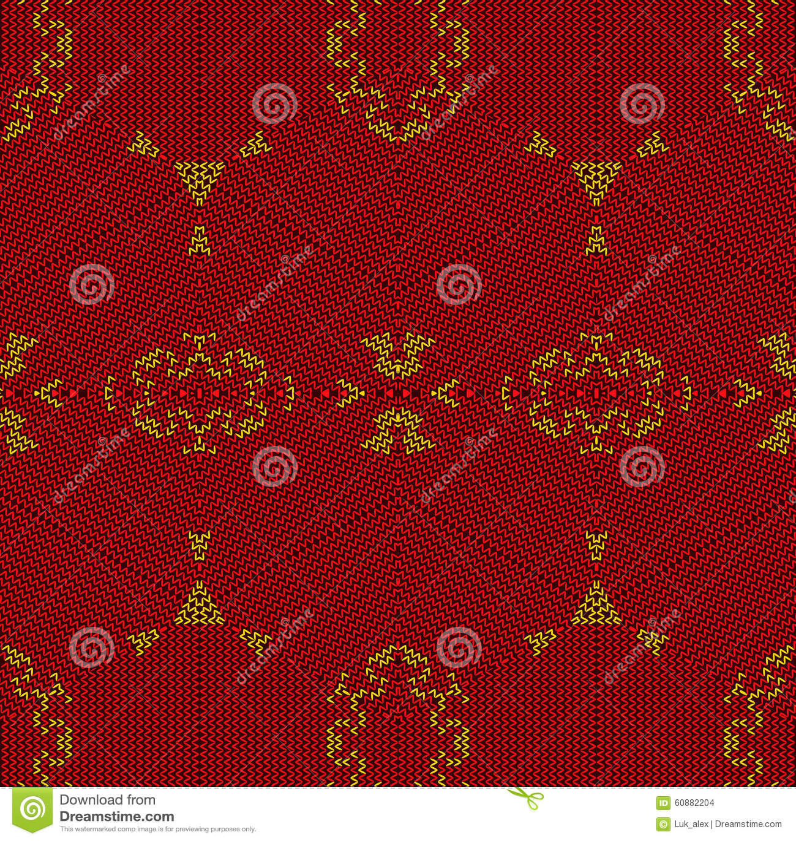 Knitting Pattern Stock Vector - Image: 60882204