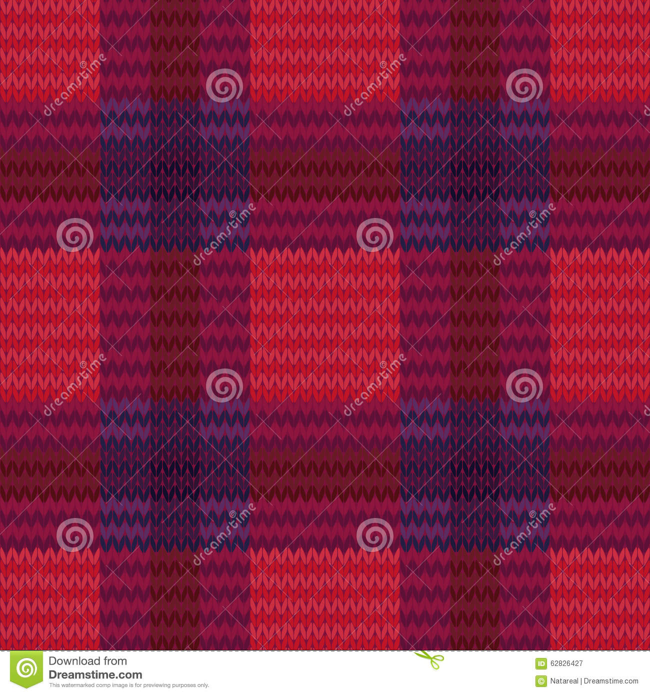 Checkered Knitting Pattern : Knitting Seamless Checkered Pattern Stock Vector - Image ...