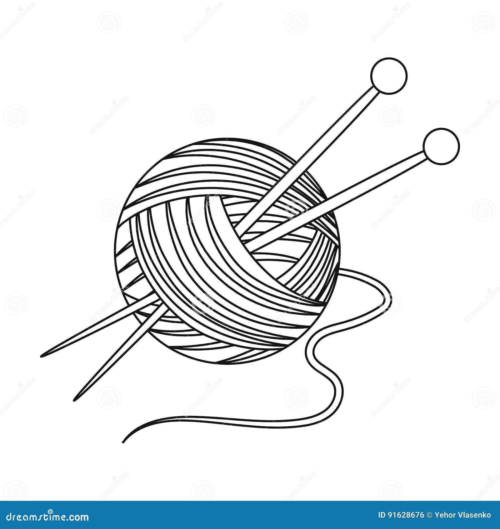 Knitting Solo icono de la edad avanzada en web del ejemplo de la acción del símbolo del vector del estilo del esquema
