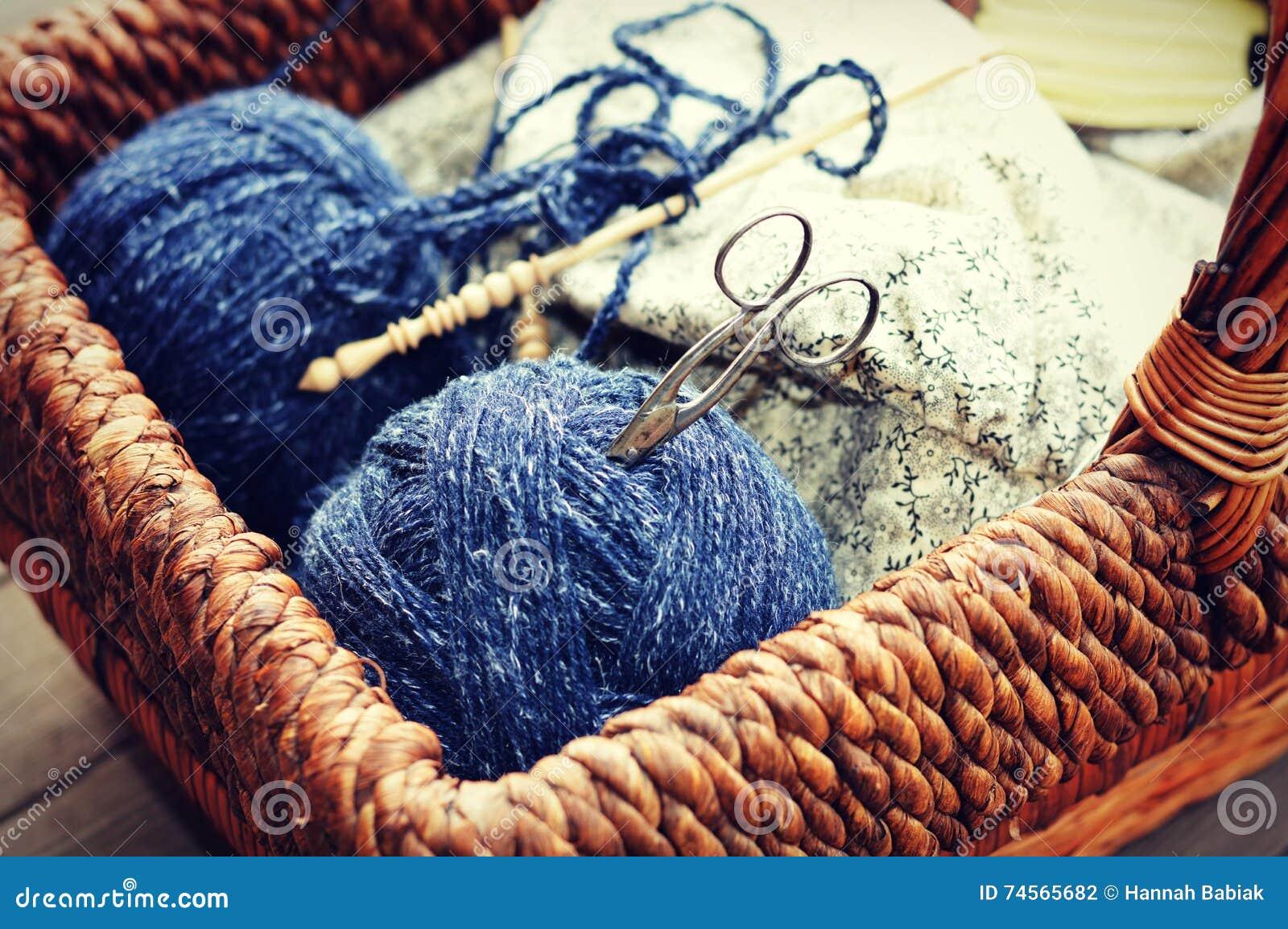Knitting Materials : Knitting supplies stock photo image of crafts knit