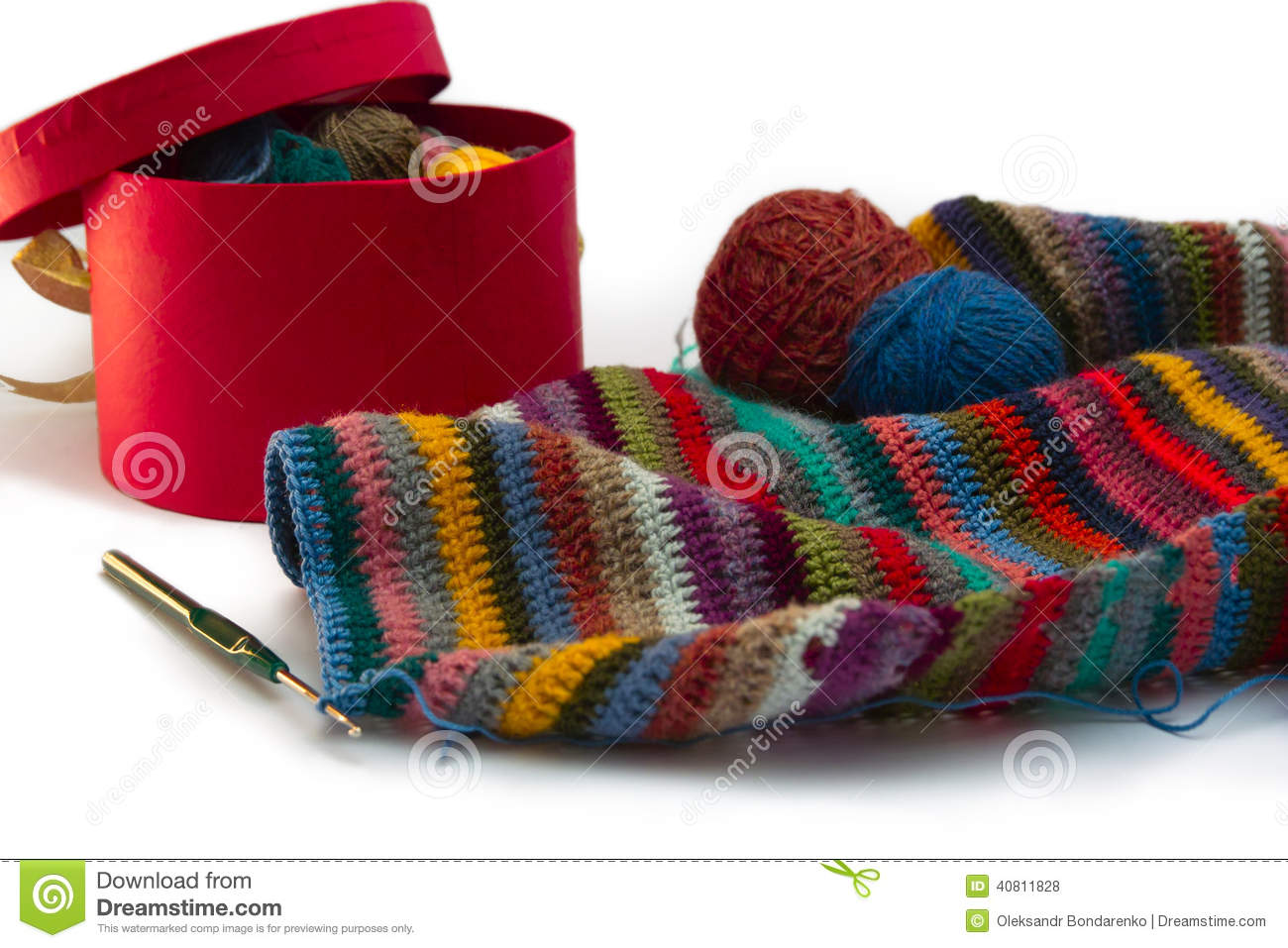 Knitting Threads : Knitting threads stock photo image