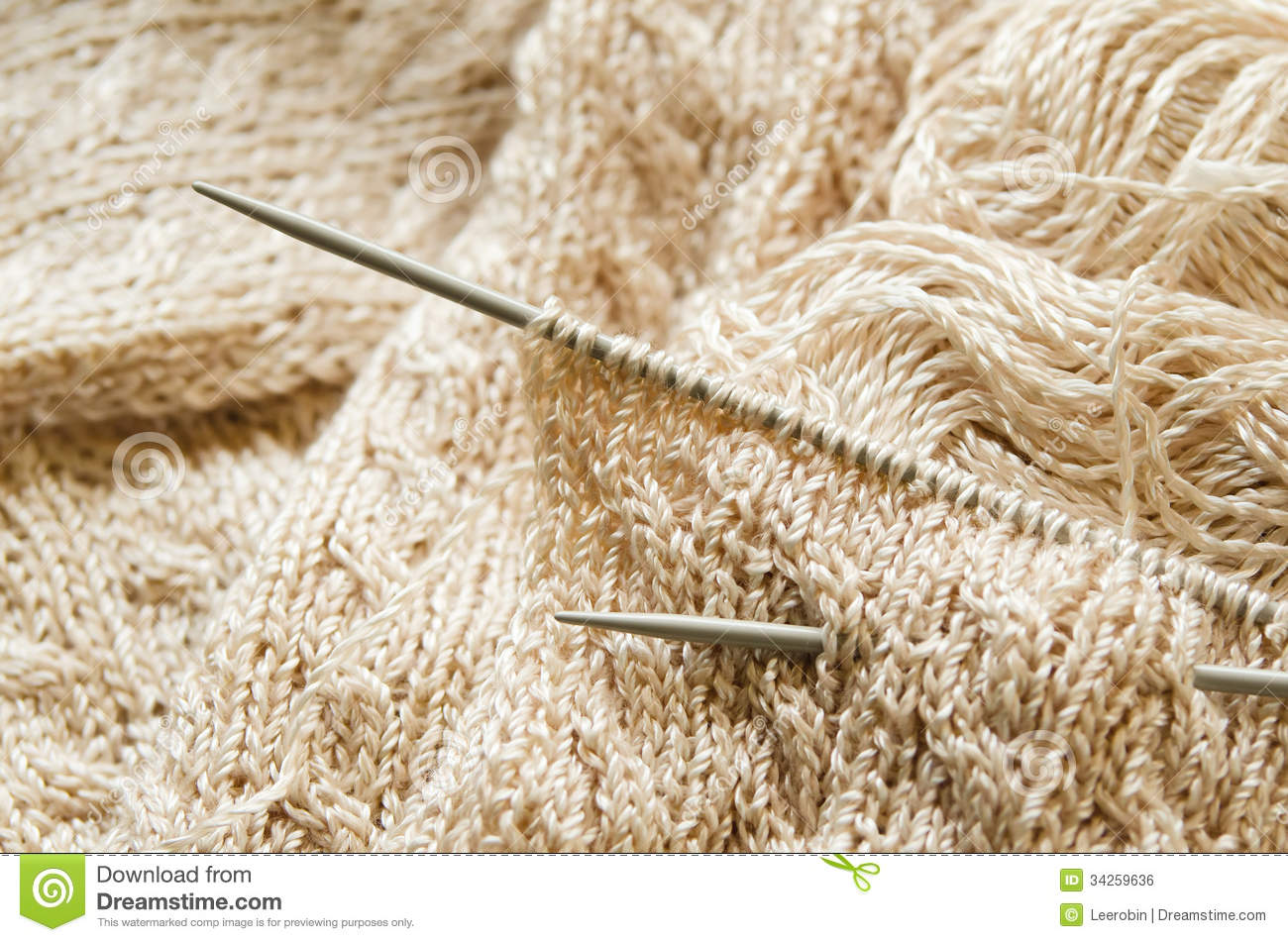 Knitting Works : Knitting work royalty free stock image