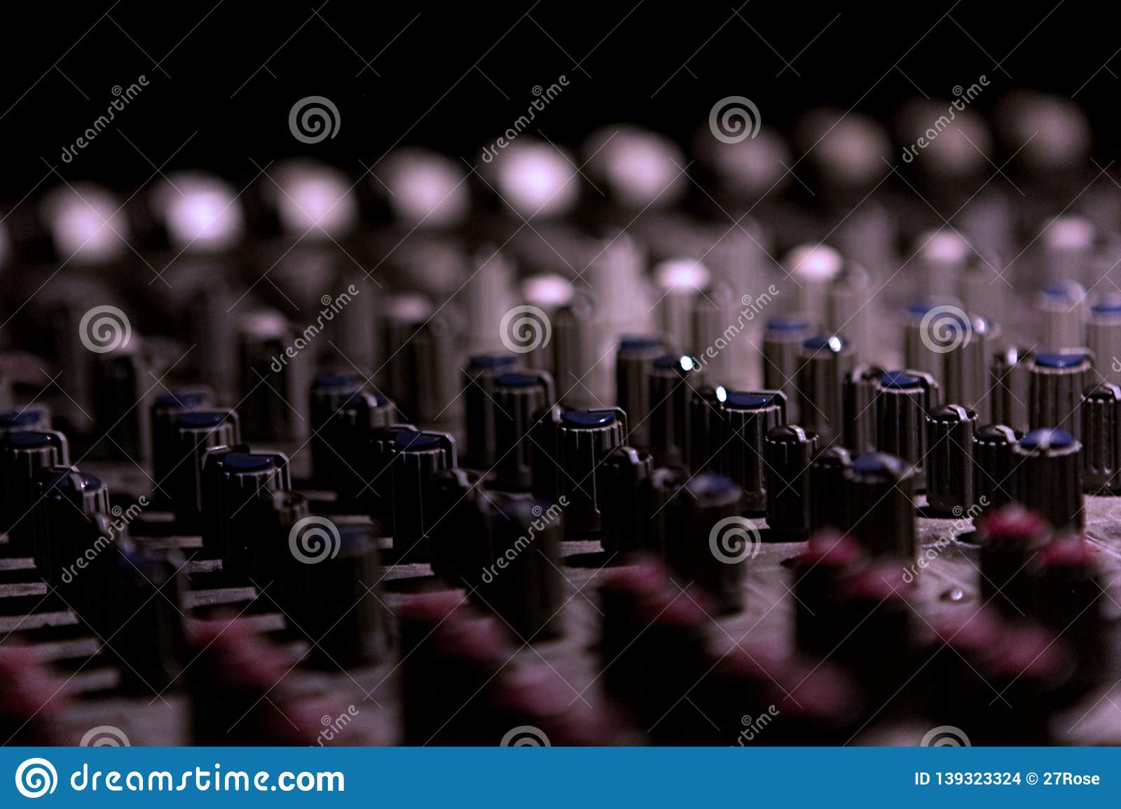 Knobs on a control panel