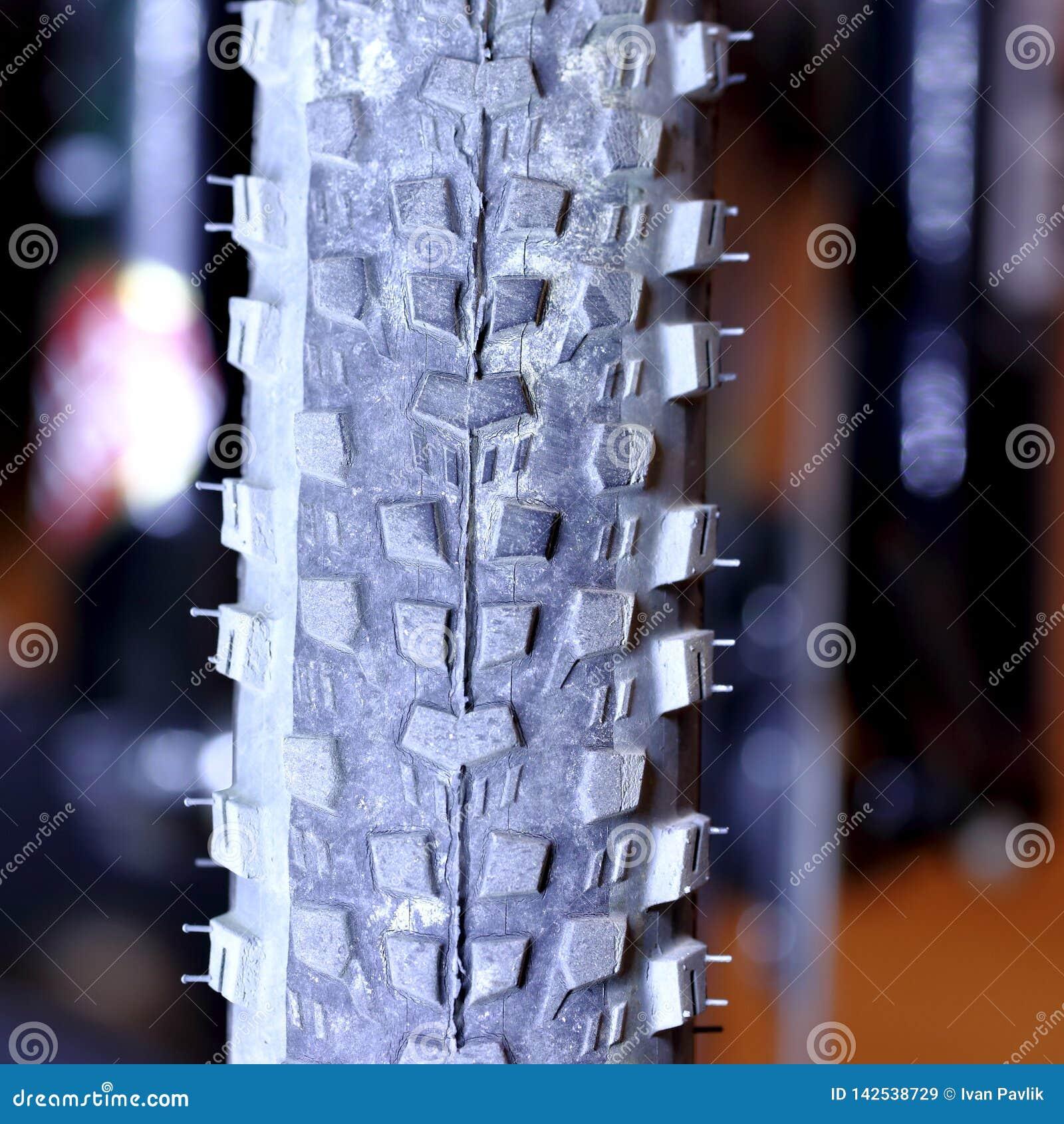 Tubeless tyre - part of mountain bike.