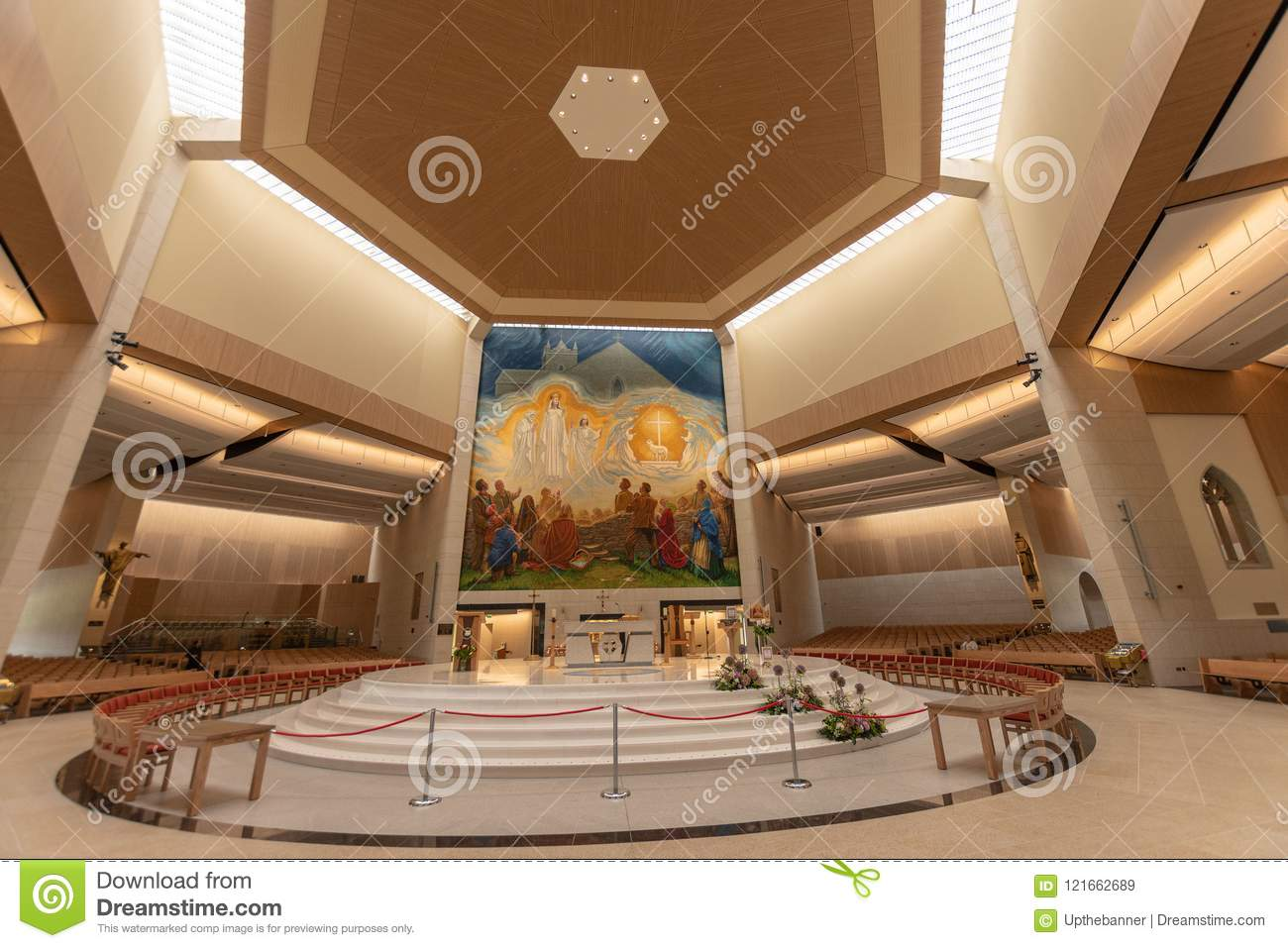 Knock, Mayo, Ireland. Ireland`s National Marian Shrine in Co Mayo, visited by over 1.5 million people each year. Knock Shrine.