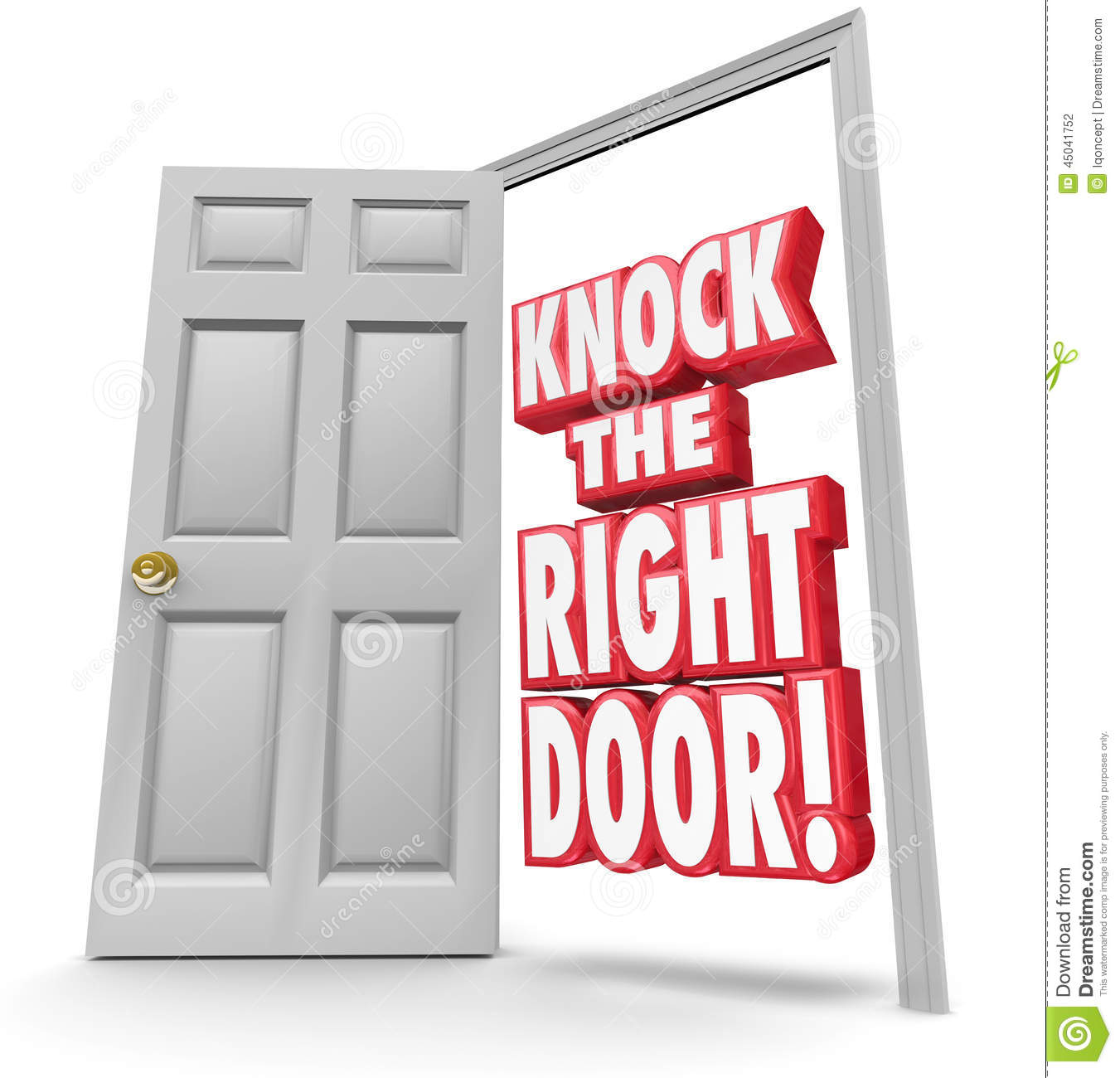 Knock the Right Door 3d Words Find Search Best Customers Solutio  sc 1 st  Dreamstime.com & Knock The Right Door 3d Words Find Search Best Customers Solutio ...