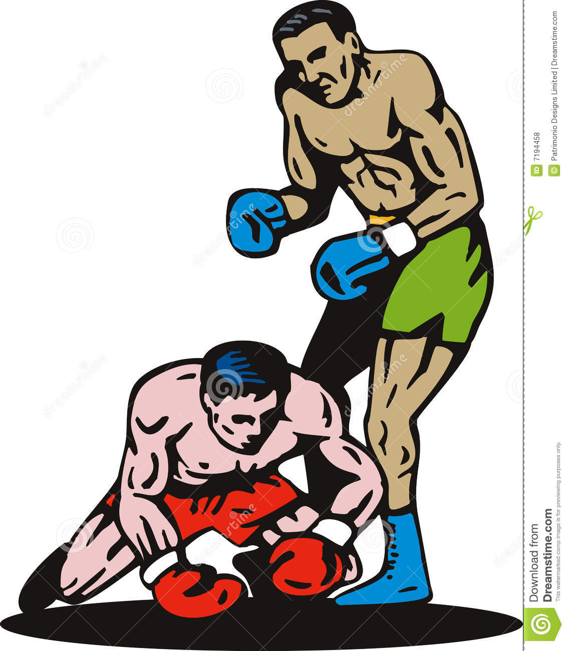 Knockout μπόξερ punching