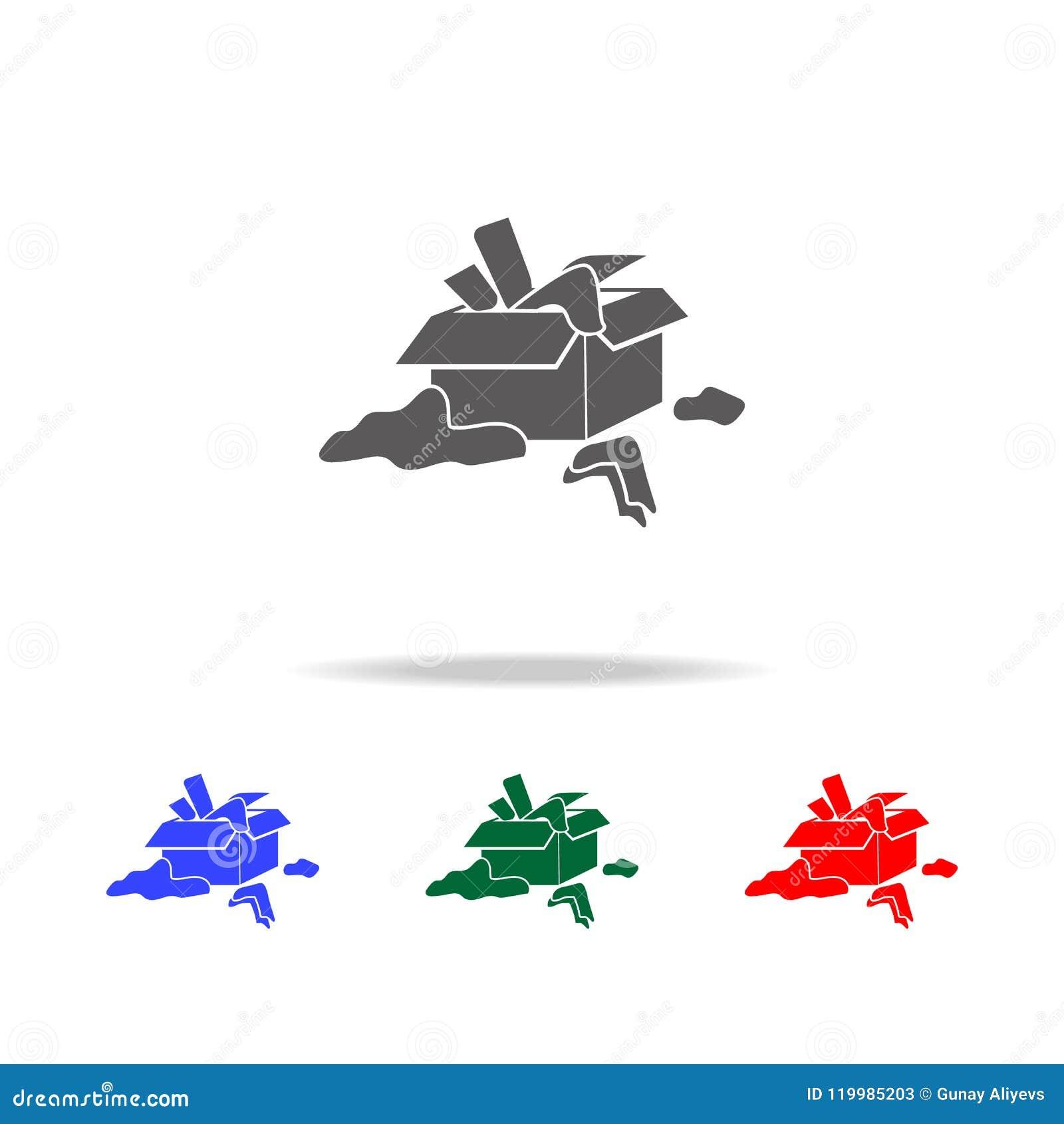 Knoei met dingenpictogram Elementen van psychologische wanorde in multi gekleurde pictogrammen Grafisch het ontwerppictogram van