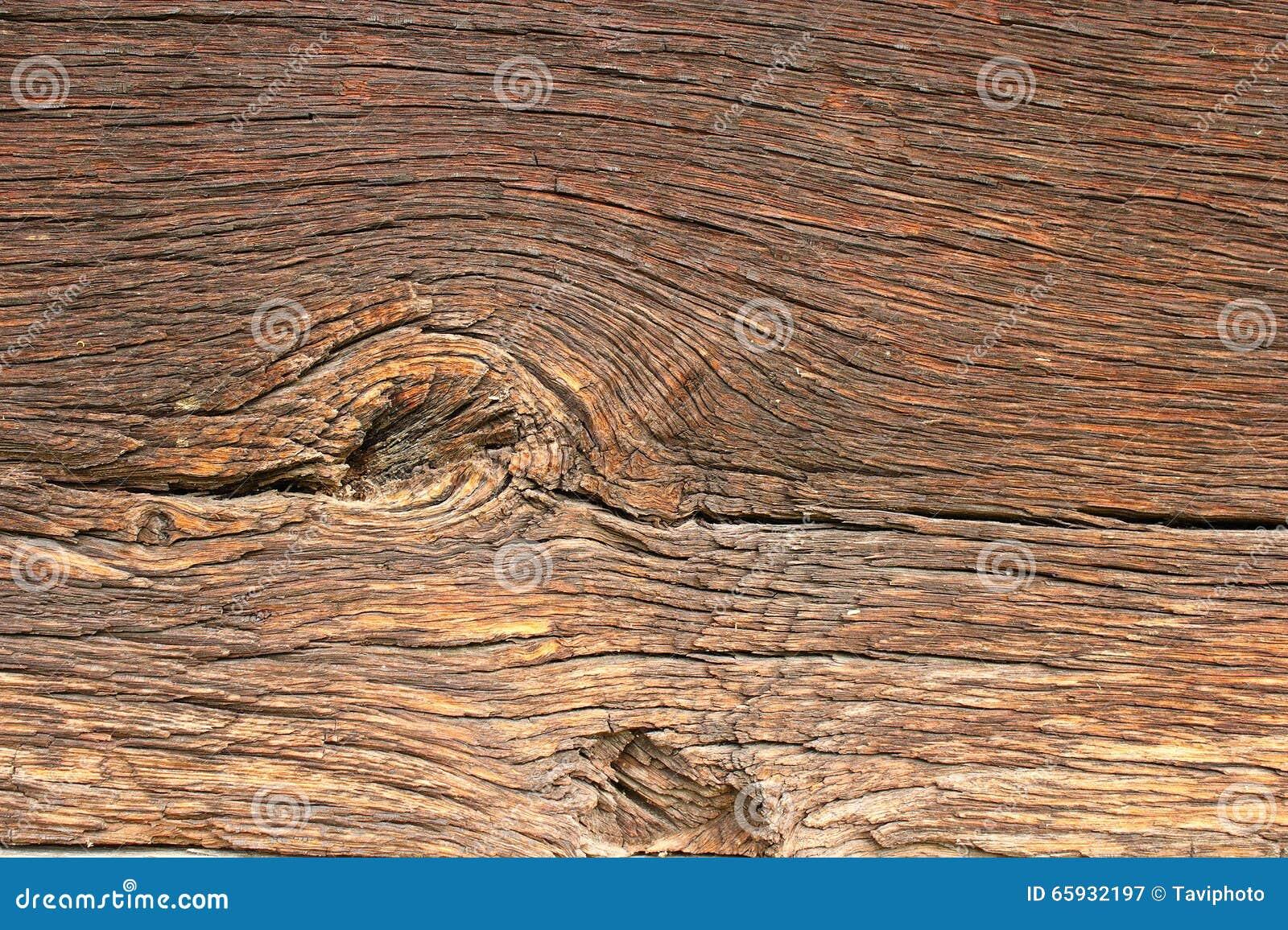 Knoop op mooie oude eiken plank stock afbeelding afbeelding