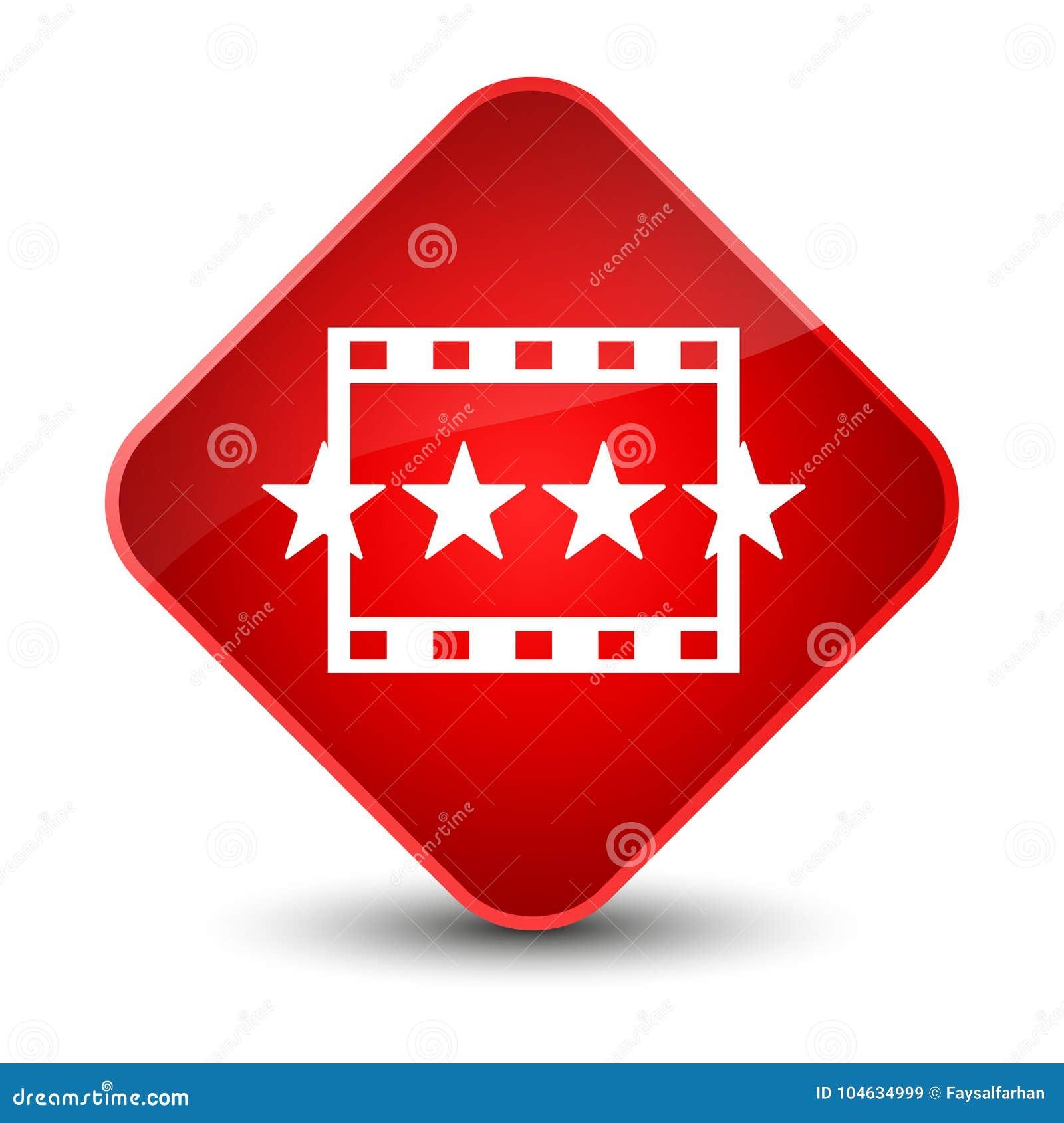 Download Knoop Van De Het Pictogram De Elegante Rode Diamant Van Filmoverzichten Stock Illustratie - Illustratie bestaande uit symbool, film: 104634999