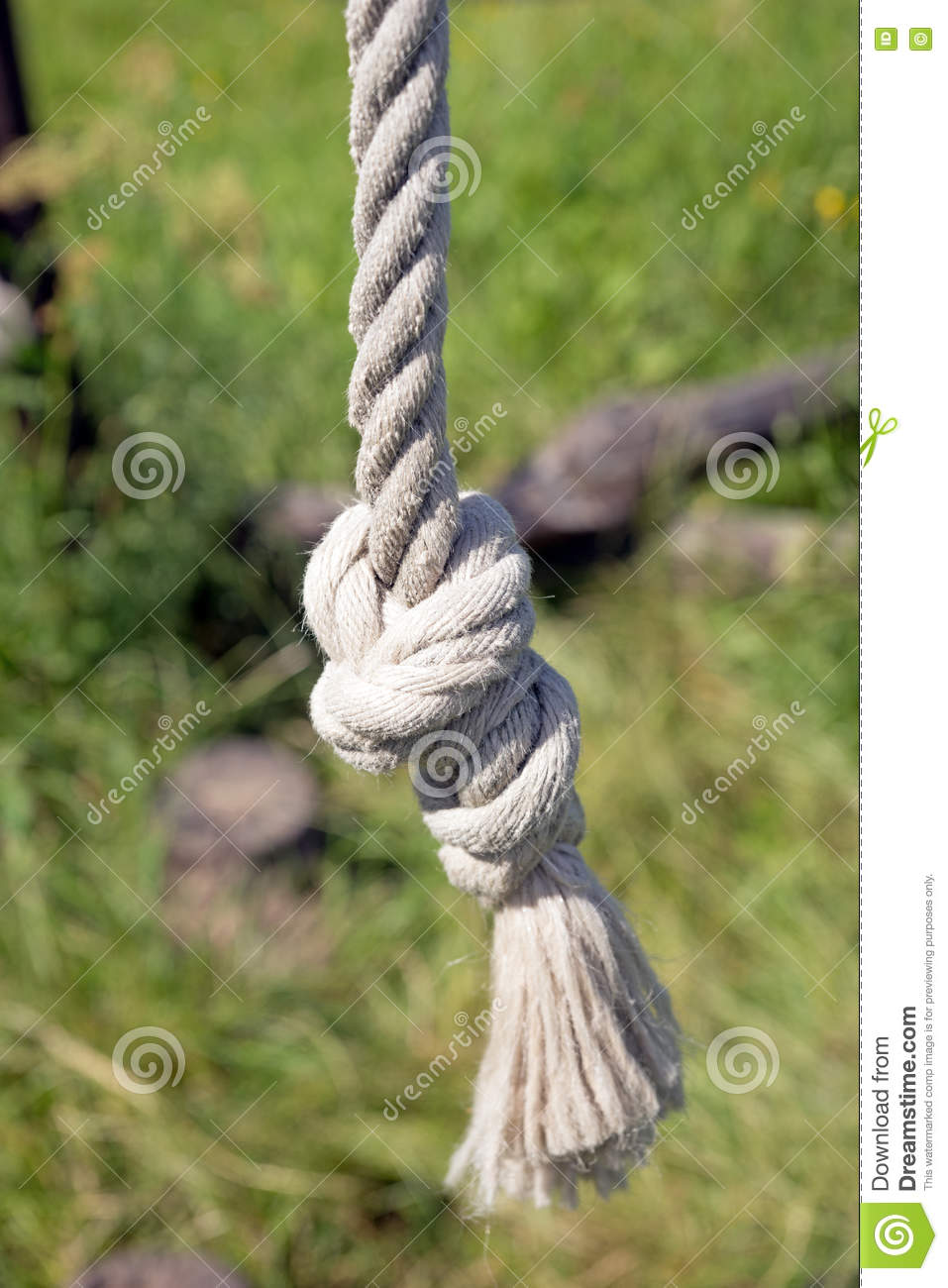 Knot At The End Of The Rope Stock Image - Image of concepts