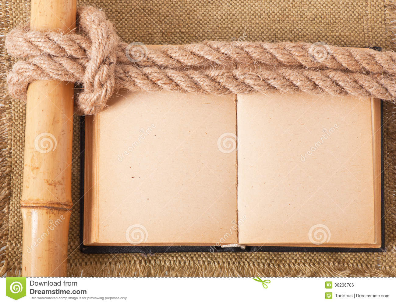 knot sea and old book royalty free stock image