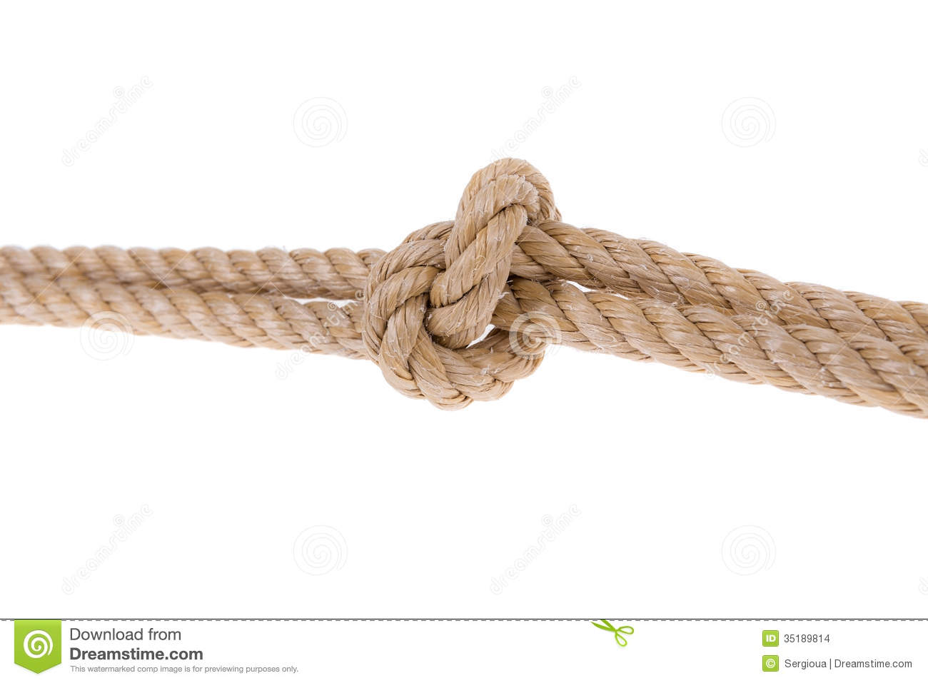 Tying A Ring In A Rope